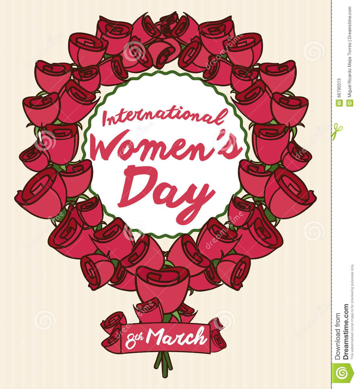Roses and a ribbon forming womens symbol for womens day vector roses and a ribbon forming women s symbol for women s day vector illustration biocorpaavc Gallery