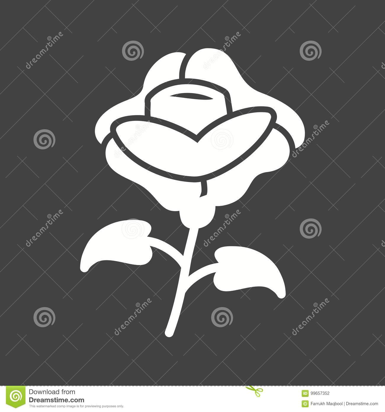 Roses Stock Vector Illustration Of Grave Flowers Color 99657352