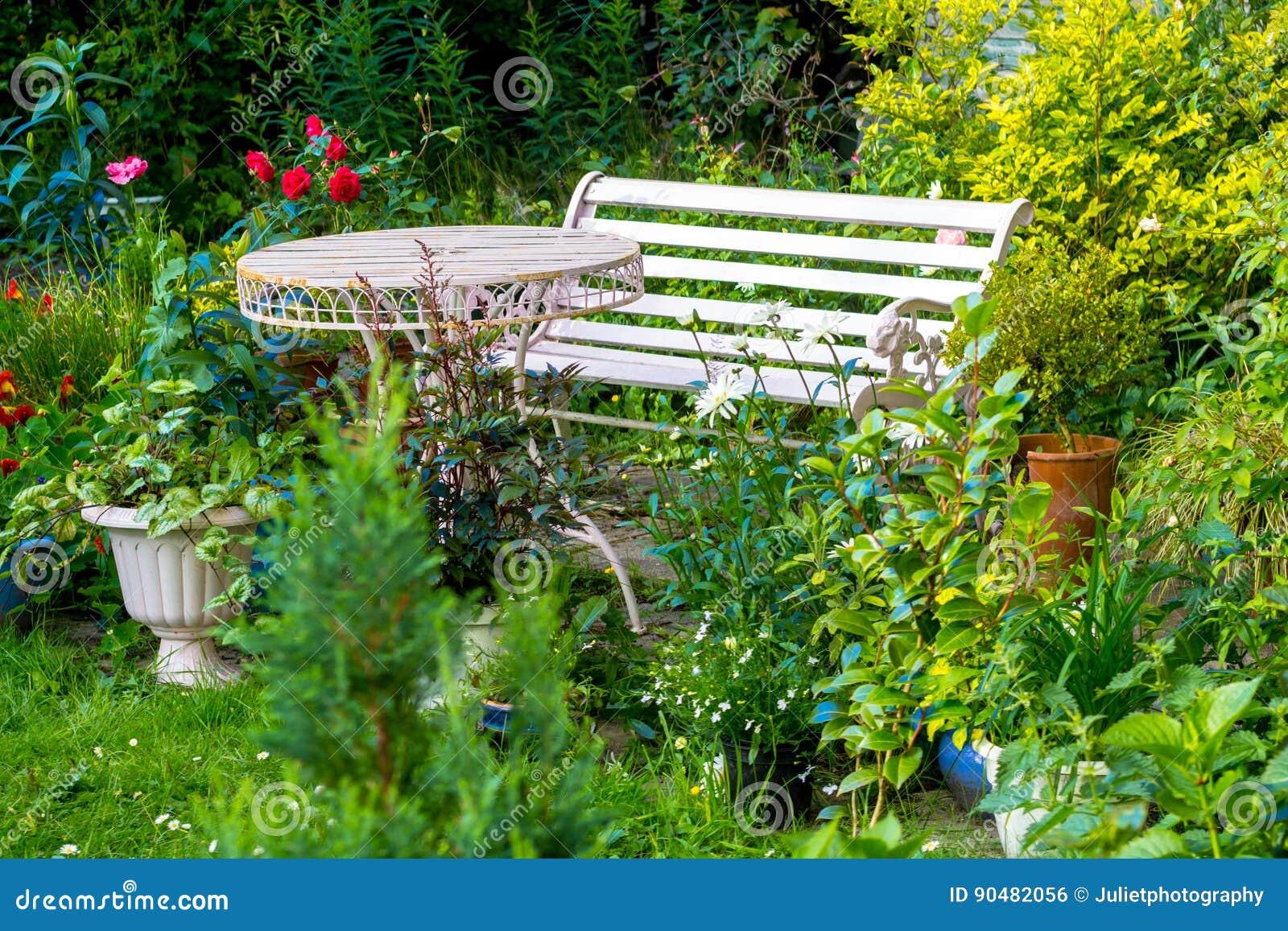 Roses Rouges Dans La Maison, Jardin Romantique Photo stock - Image ...