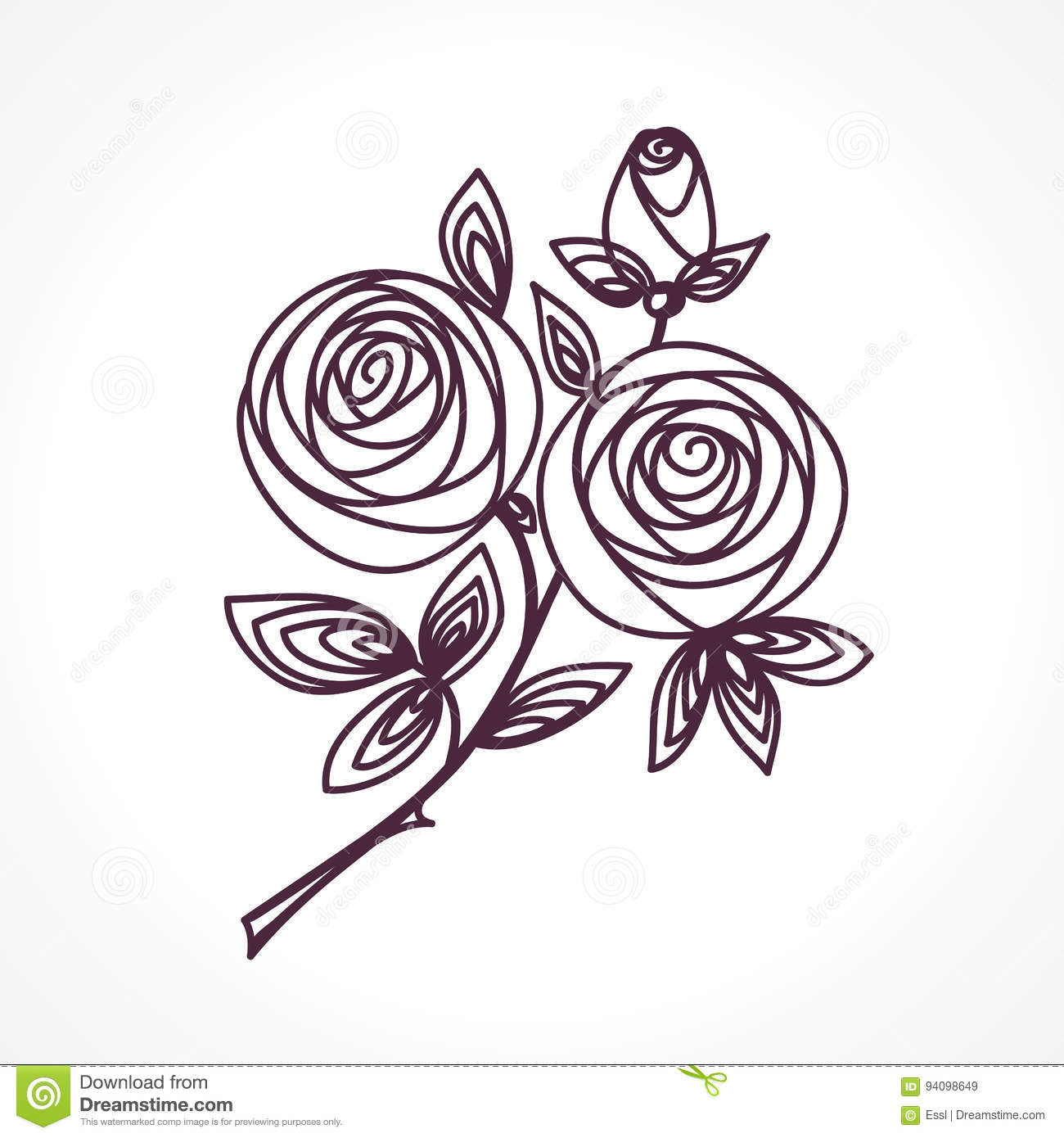 Roses stylized flower bouquet hand drawing outline icon symbol stylized flower bouquet hand drawing outline icon symbol present for wedding birthday invitation card izmirmasajfo