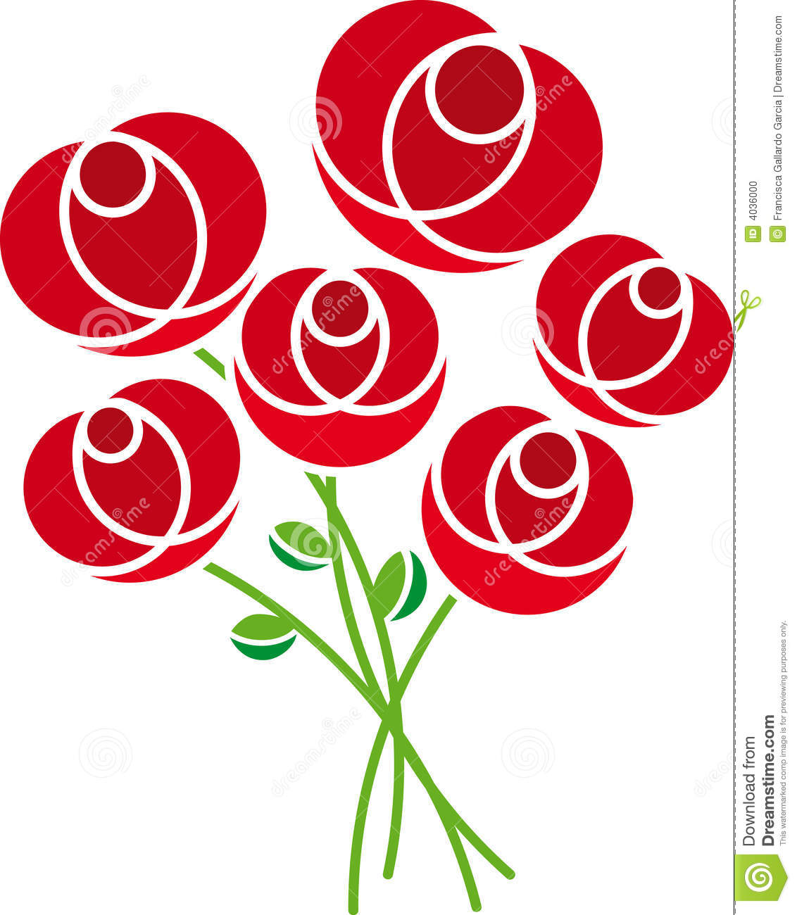 Roses (vector) Stock Photo - Image: 4036000