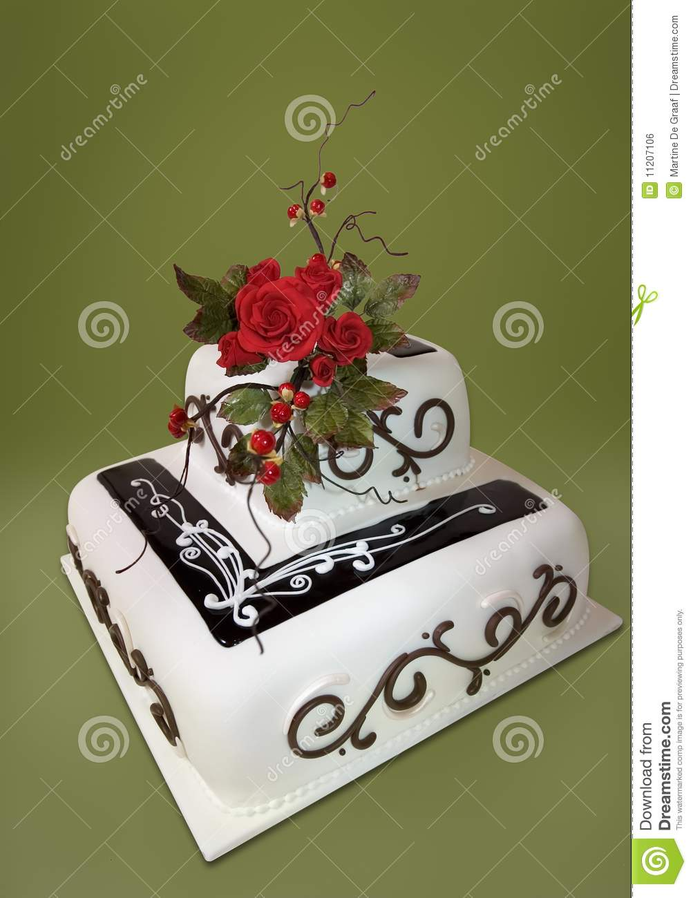 Roses Wedding Cake Stock Photo Image Of Tiered Bitter 11207106