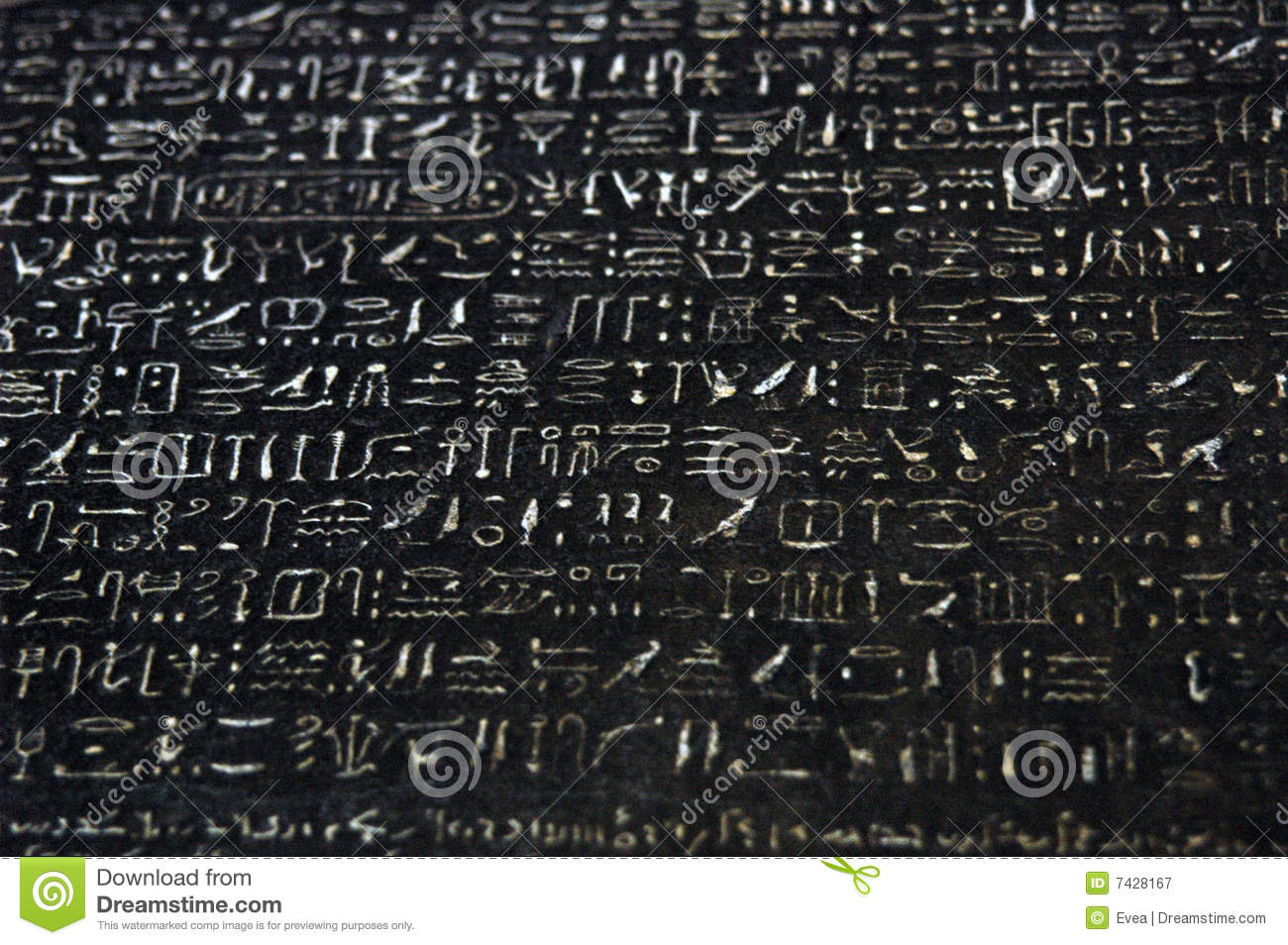 ROSETTA STONE stock image  Image of egyptian, artifact - 7428167