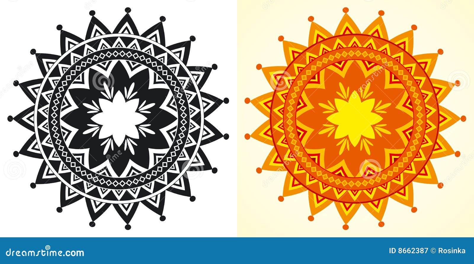 Rosettes géométriques décoratives