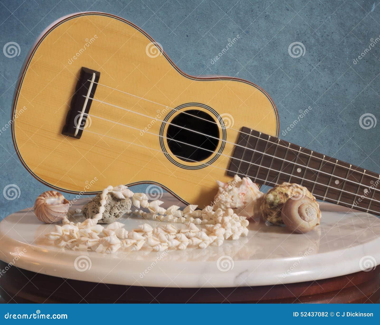 Rosewood Ukulele With Sea Shell Decor Stock Photo Image Of Rosewood Musician 52437082