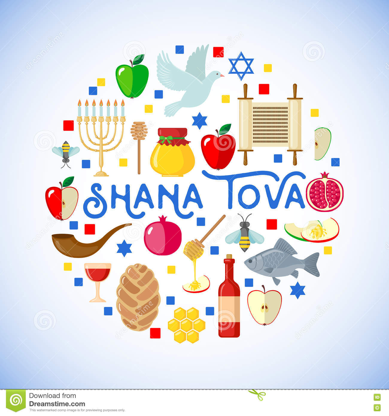 Rosh hashanah greeting card stock vector illustration of jewish rosh hashanah greeting card jewish apple kristyandbryce Choice Image