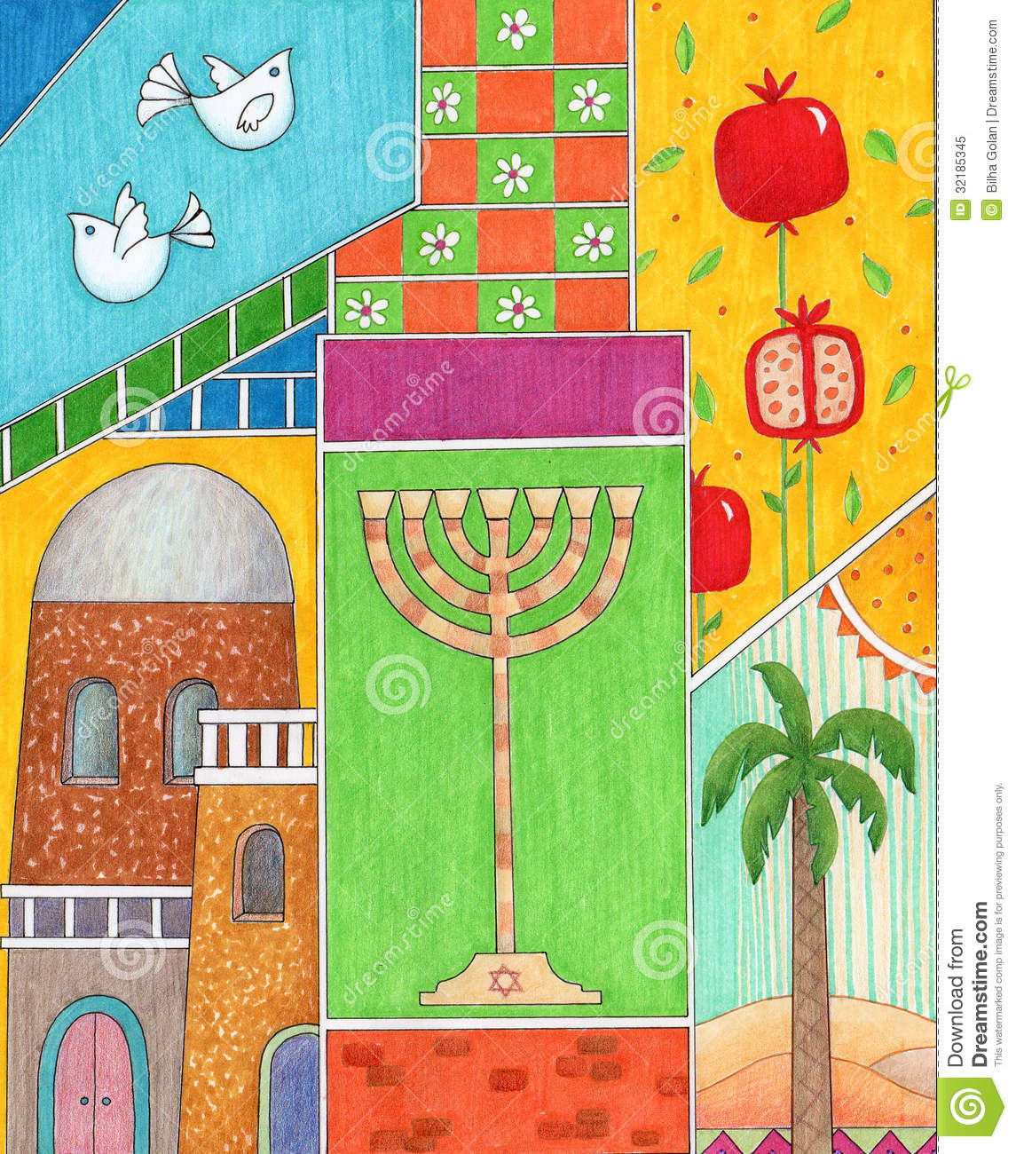 Rosh hashanah greeting stock illustration illustration of year rosh hashanah greeting kristyandbryce Choice Image