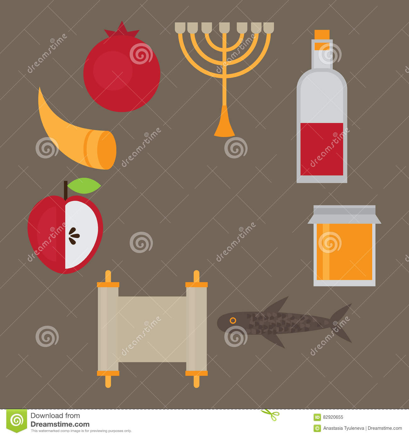 Rosh hashanah jewish new year greeting card hebrew symbols judaism download rosh hashanah jewish new year greeting card hebrew symbols judaism elements stock m4hsunfo