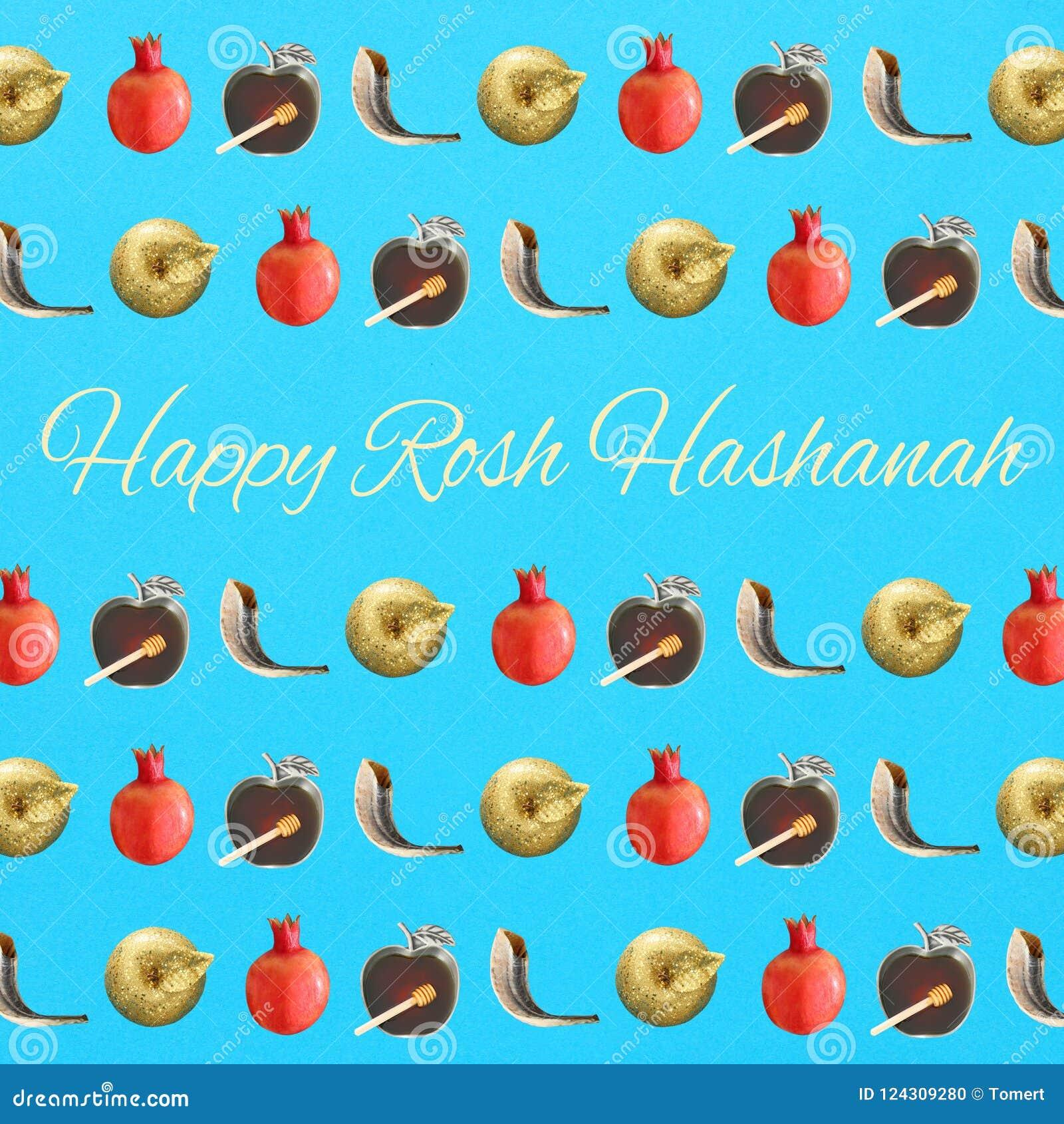 Rosh Hashanah X28jewish New Year Holiday X29 Pattern Concept