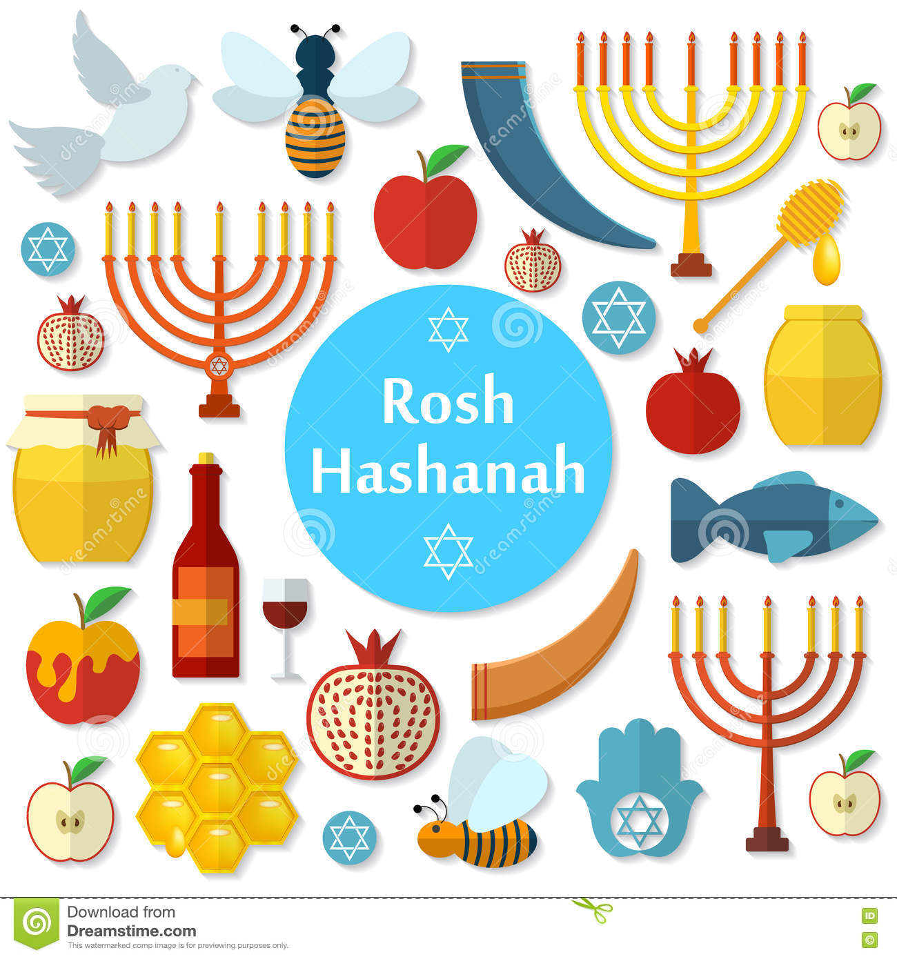 """rosh hashanah Rosh hashanah, the jewish new year, always falls on the first and second day  of the hebrew month of tishrei the words """"rosh hashanah""""."""