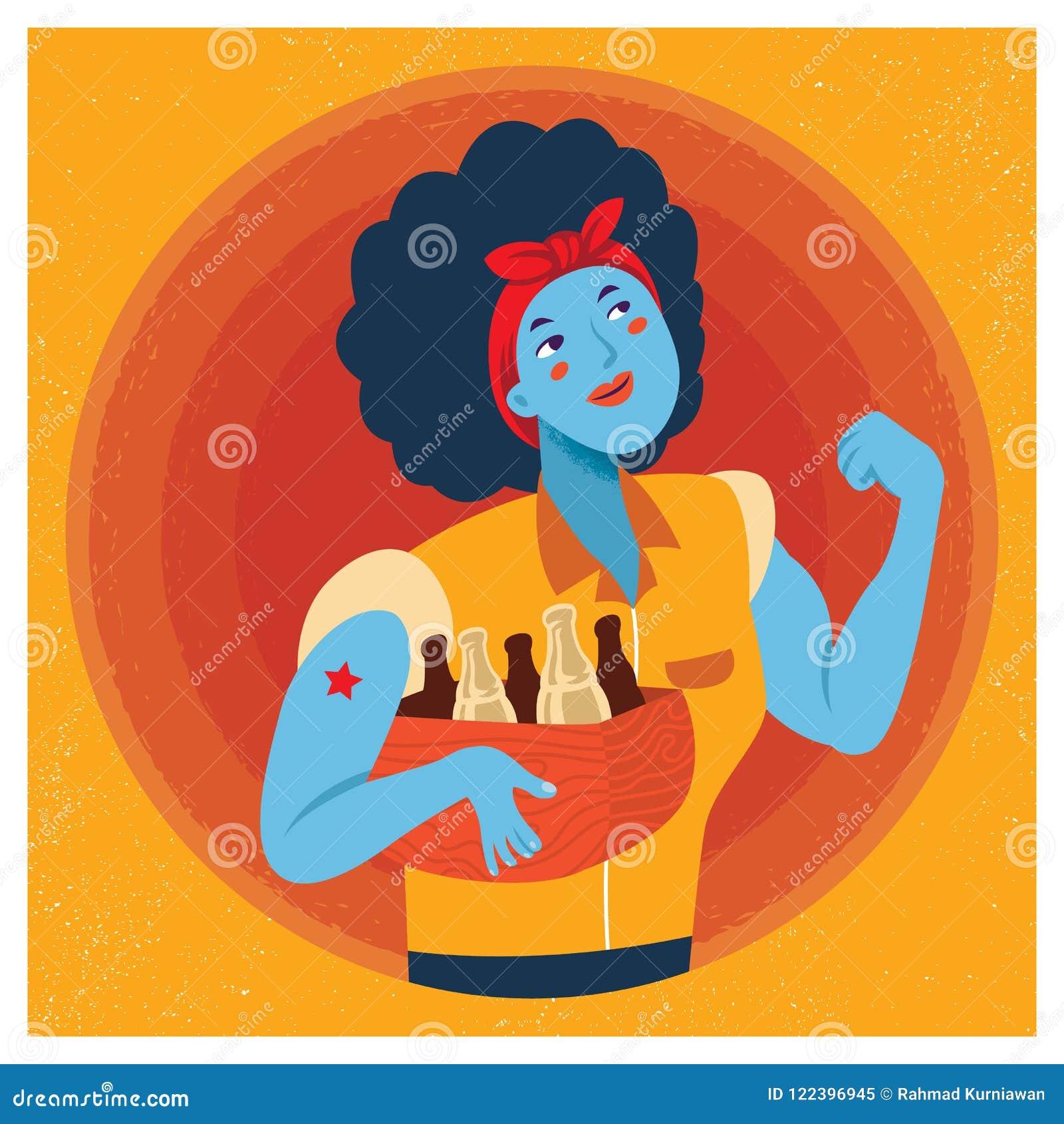 Rosie a ilustração dos desenhos animados do rebitador