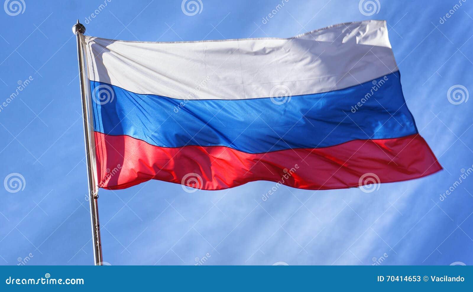 Rosjanin flaga na Flagpole