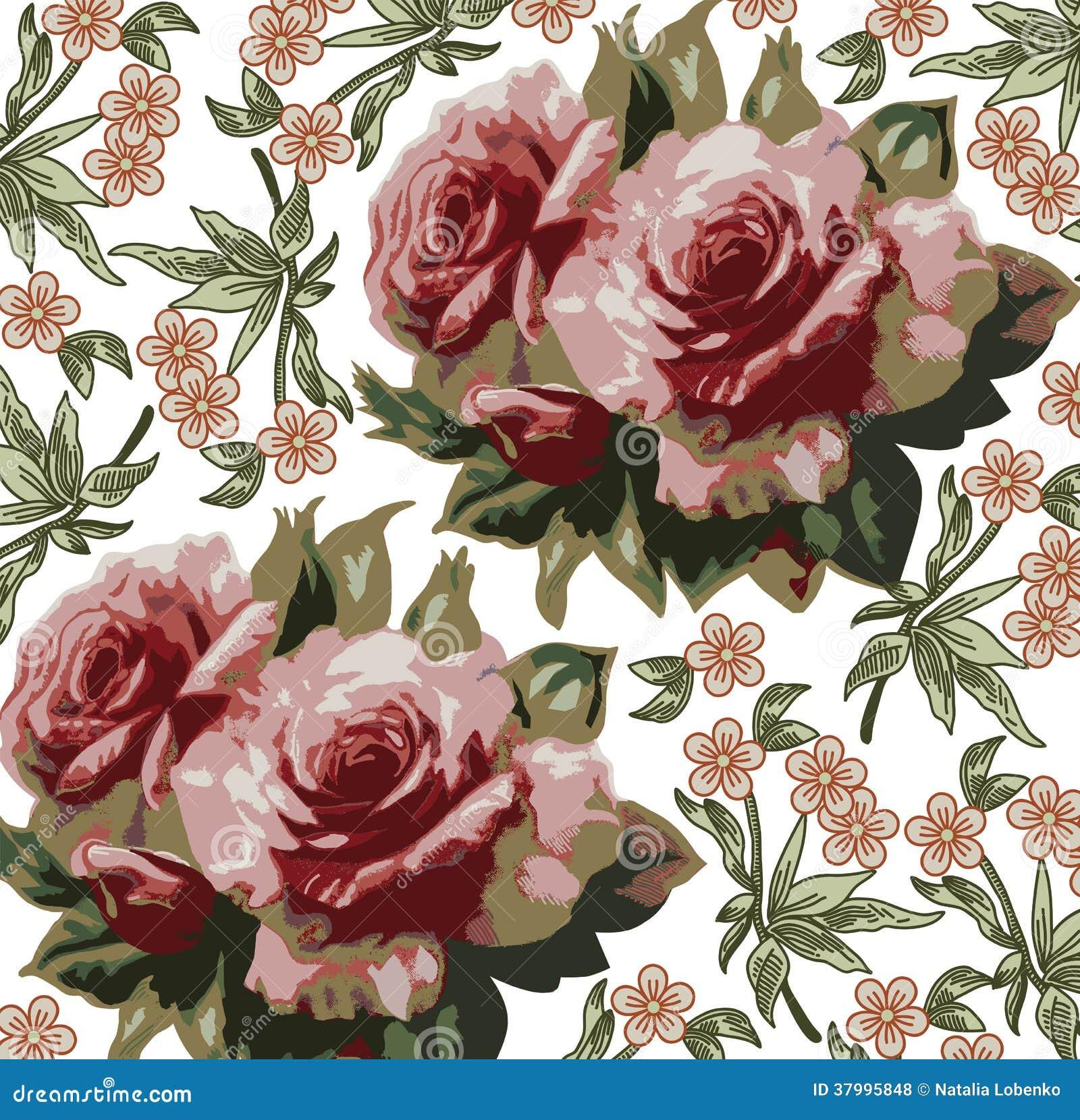 Rosor. Härlig bakgrund med en blommaorname