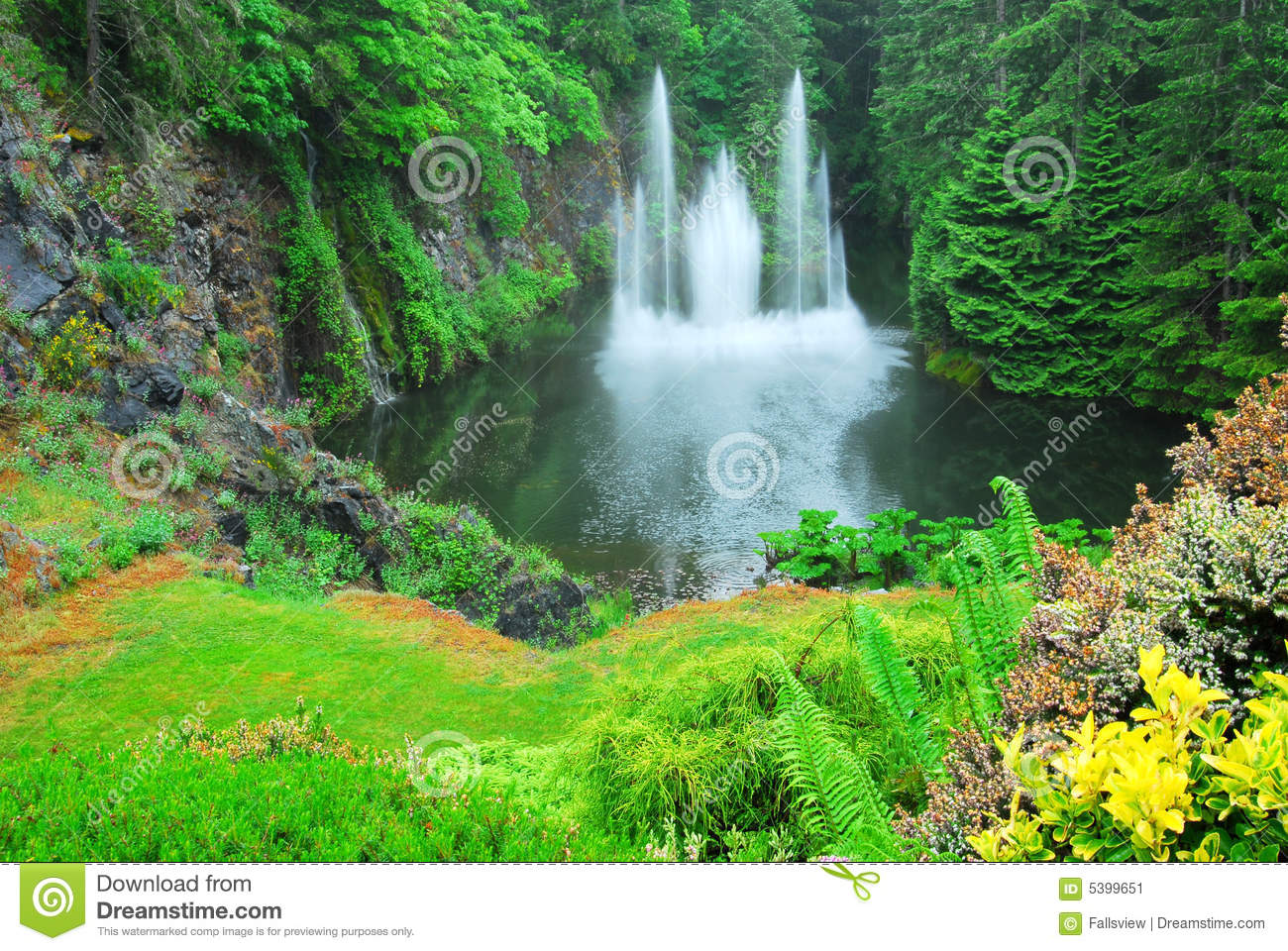 Ross Fountain In Butchart Gardens Stock Image Image 5399651
