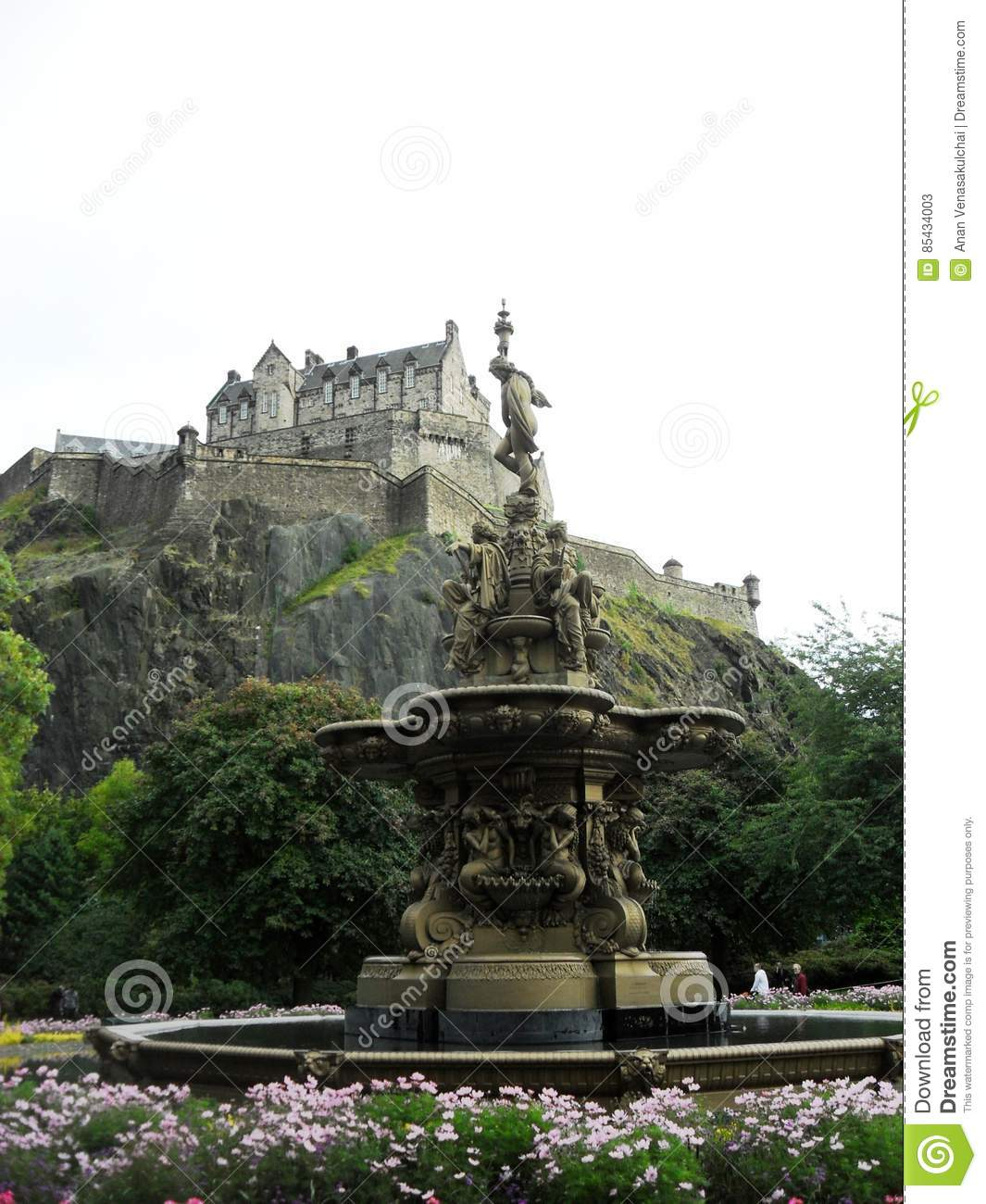 Ross fountain, Edinburgh castle, scotland