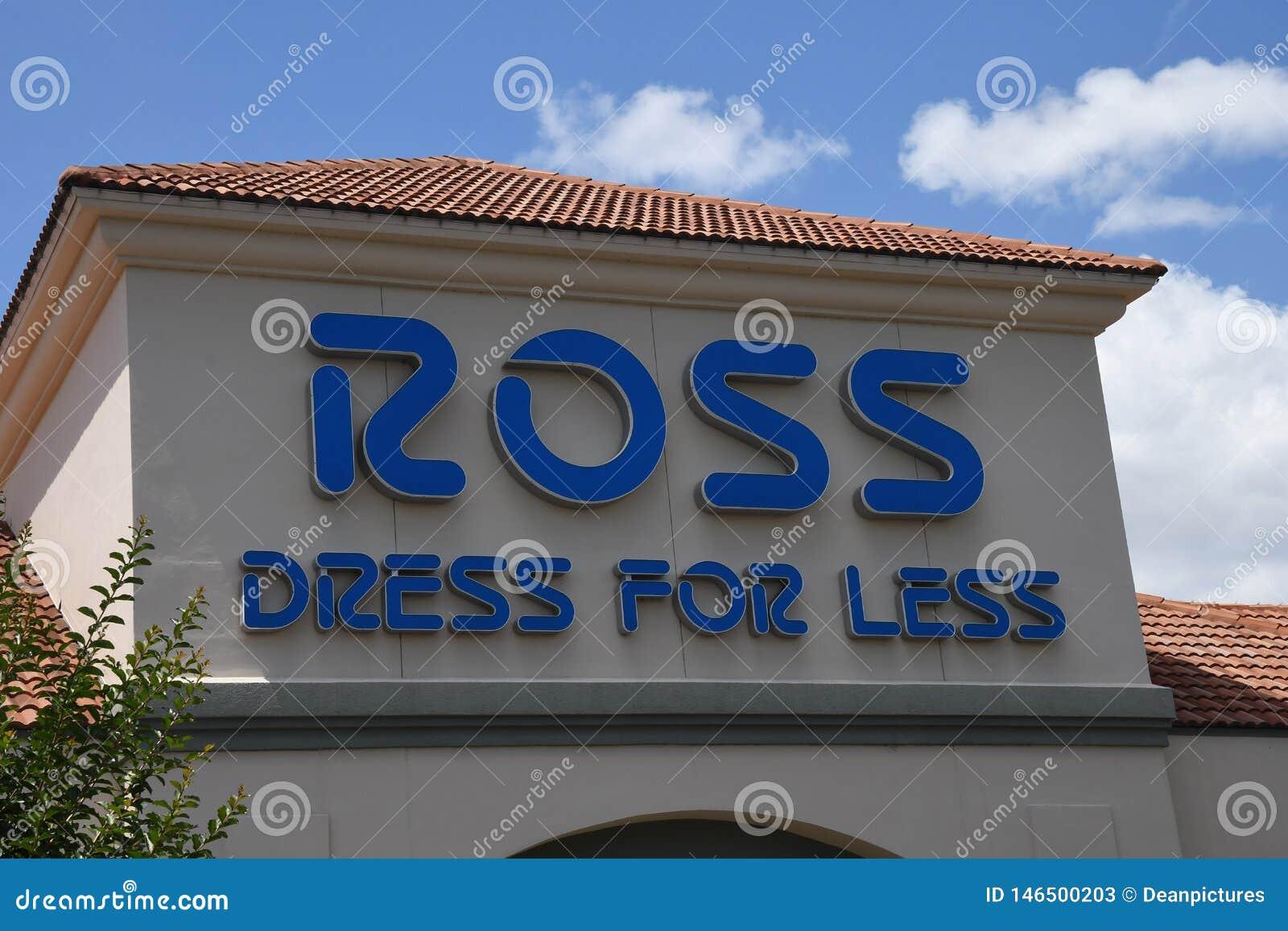 ROSS suknia DLA MNIEJ sklepu W GAINESVILLE