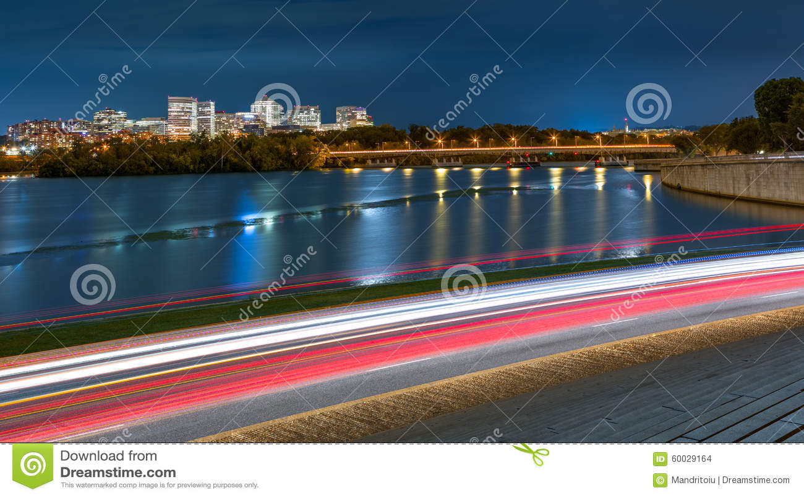 Rosslyn Skyline and traffic in Washington DC