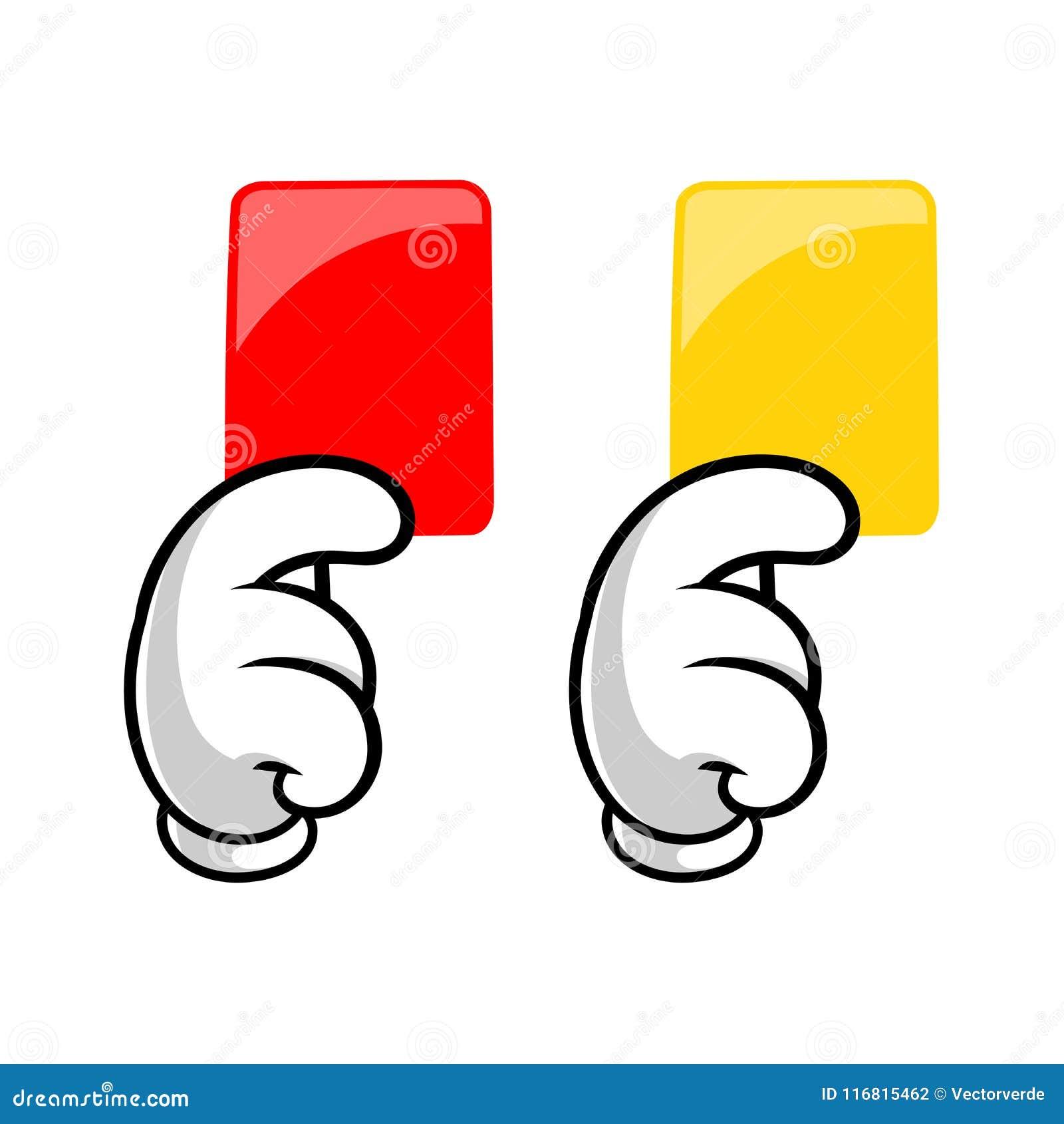 Rosso e cartellini gialli