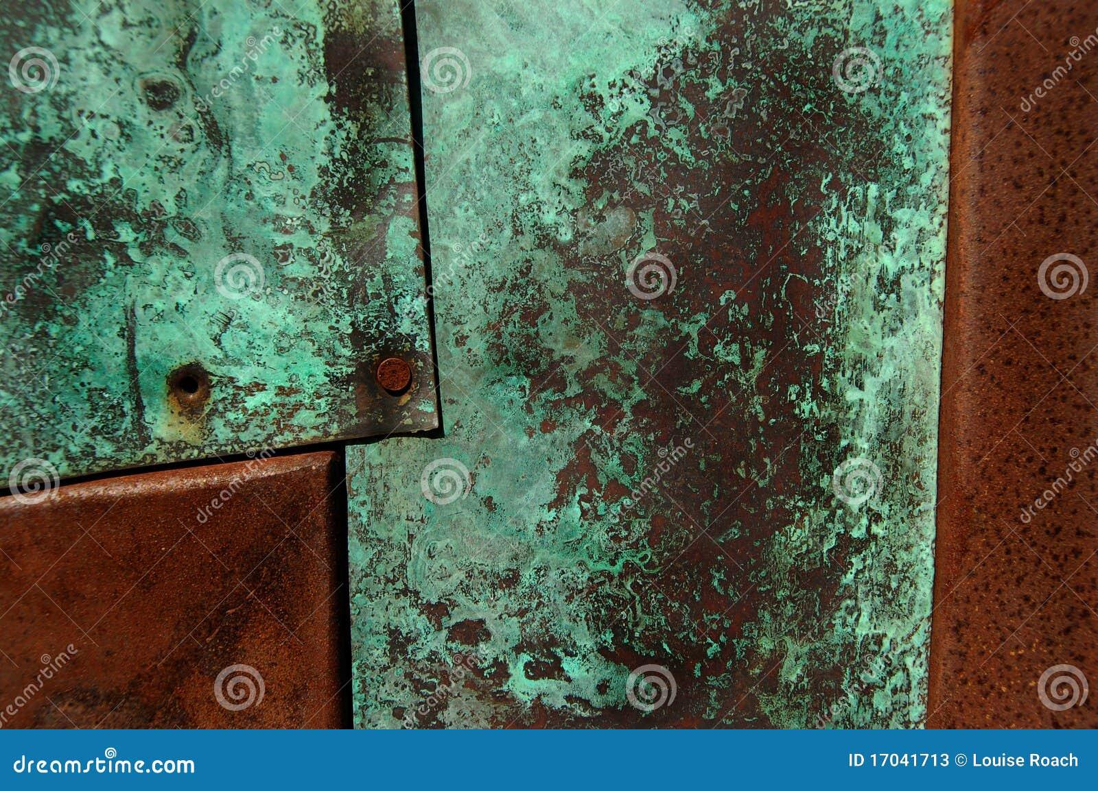 Grüner Rost rost und patina stockbild bild oberfläche oxidation 17041713