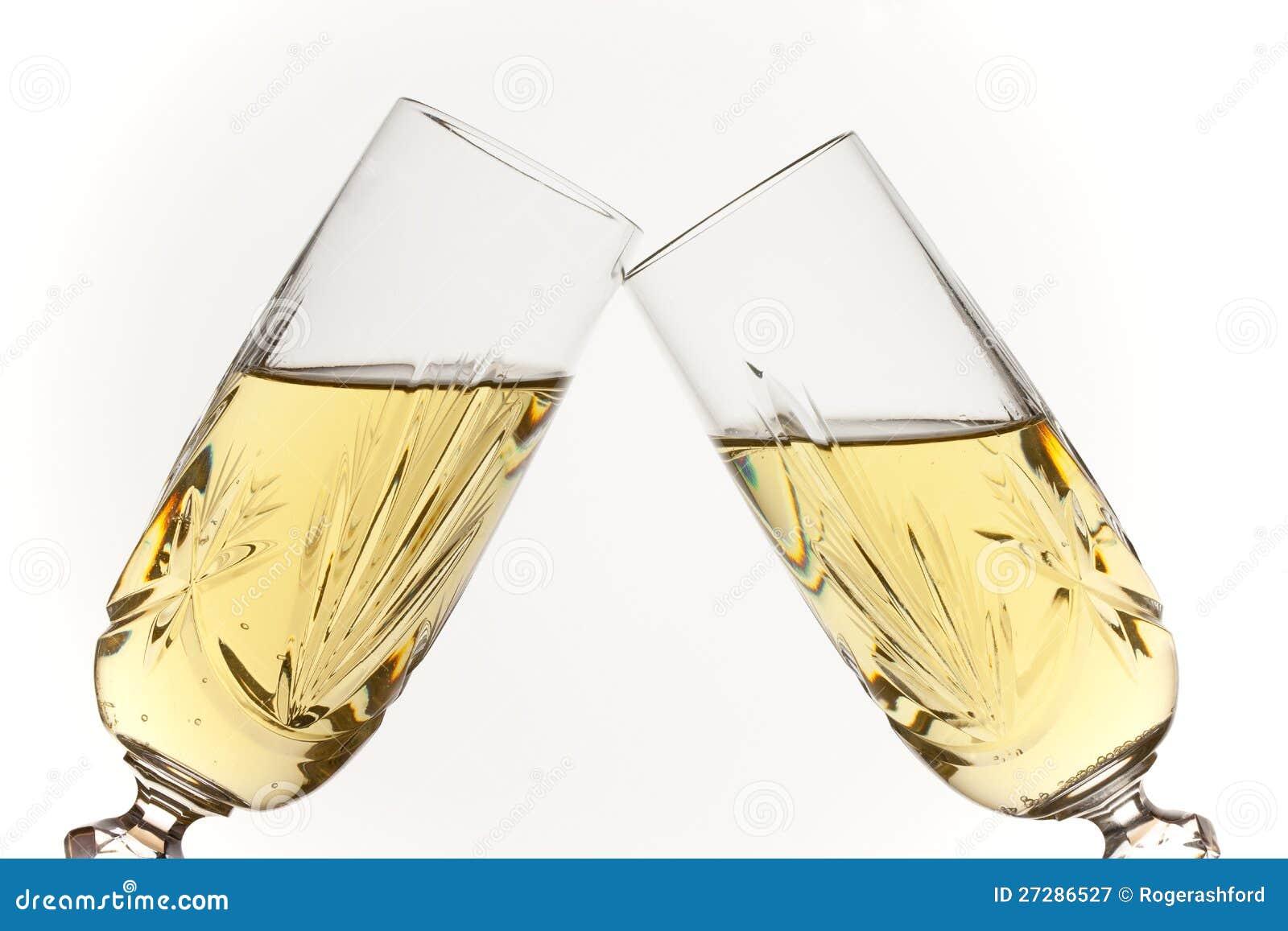 Rosta för champagneexponeringsglas
