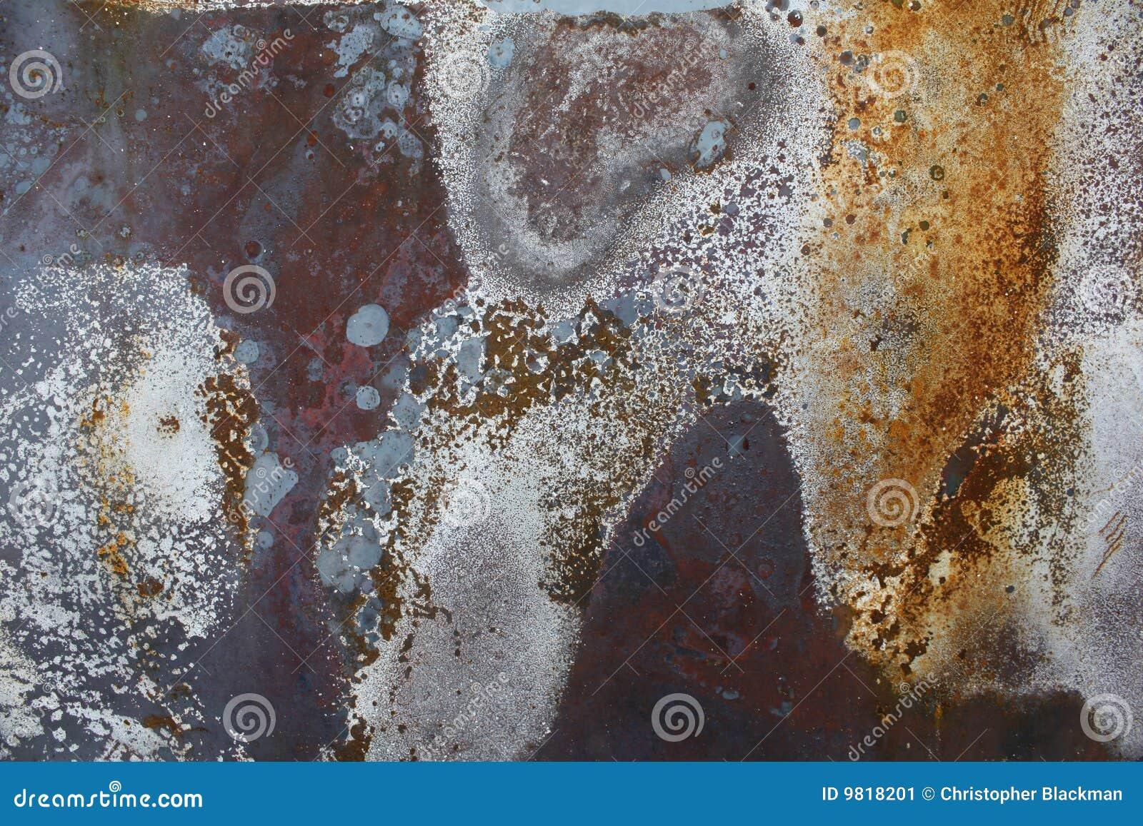 Rostig färgrik metall för bakgrund