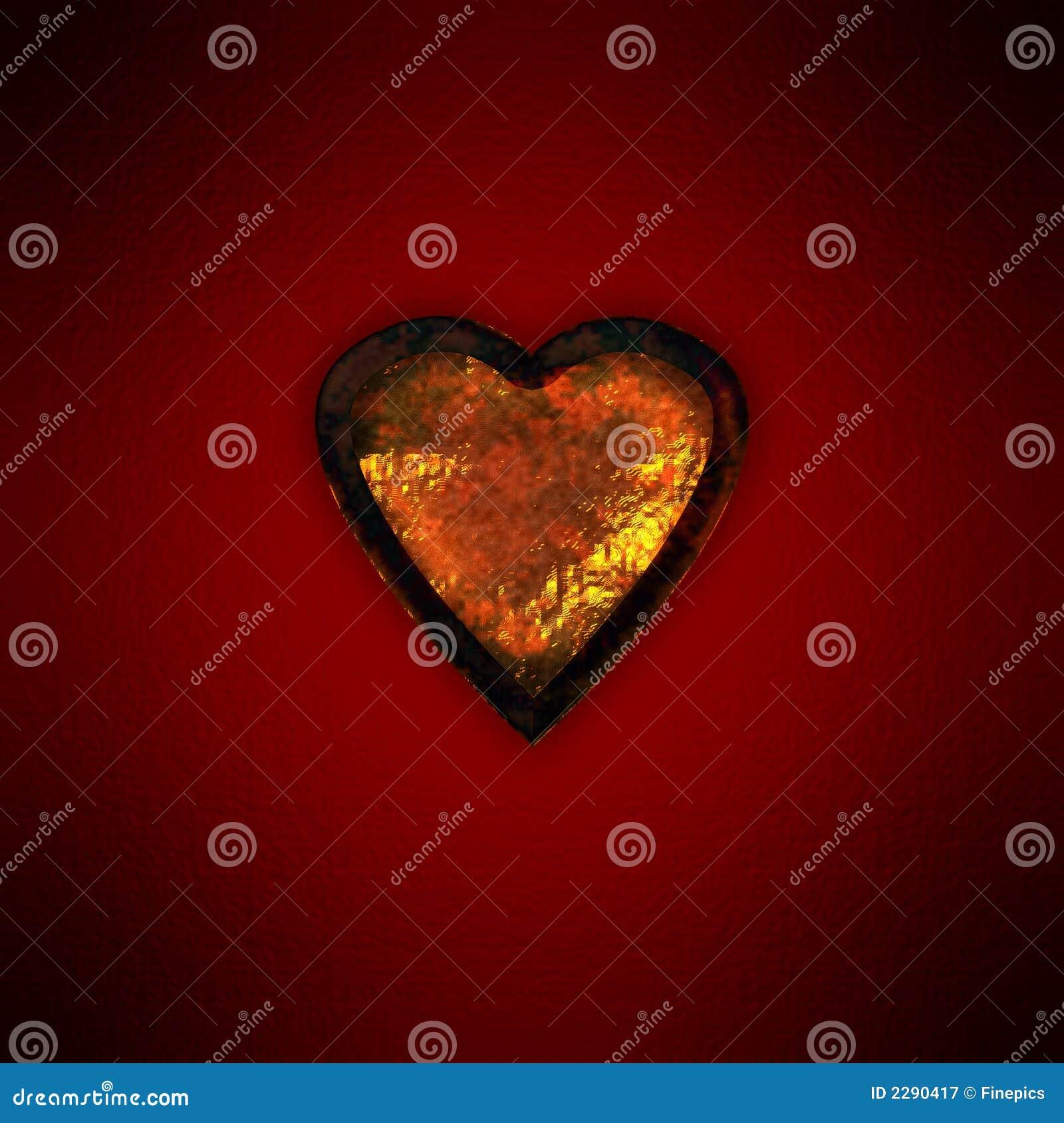 Rostig guldhjärta