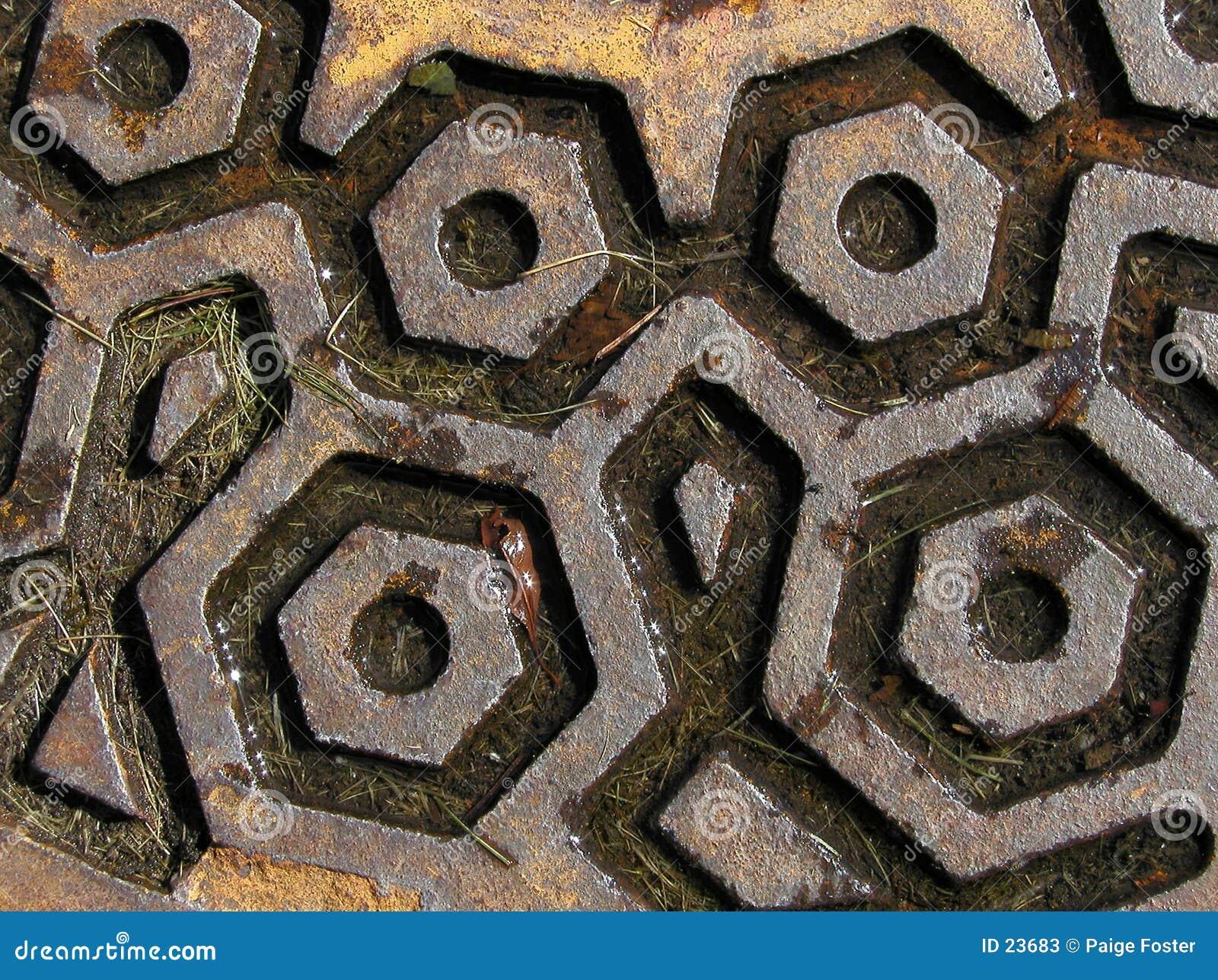 Rostig manhole