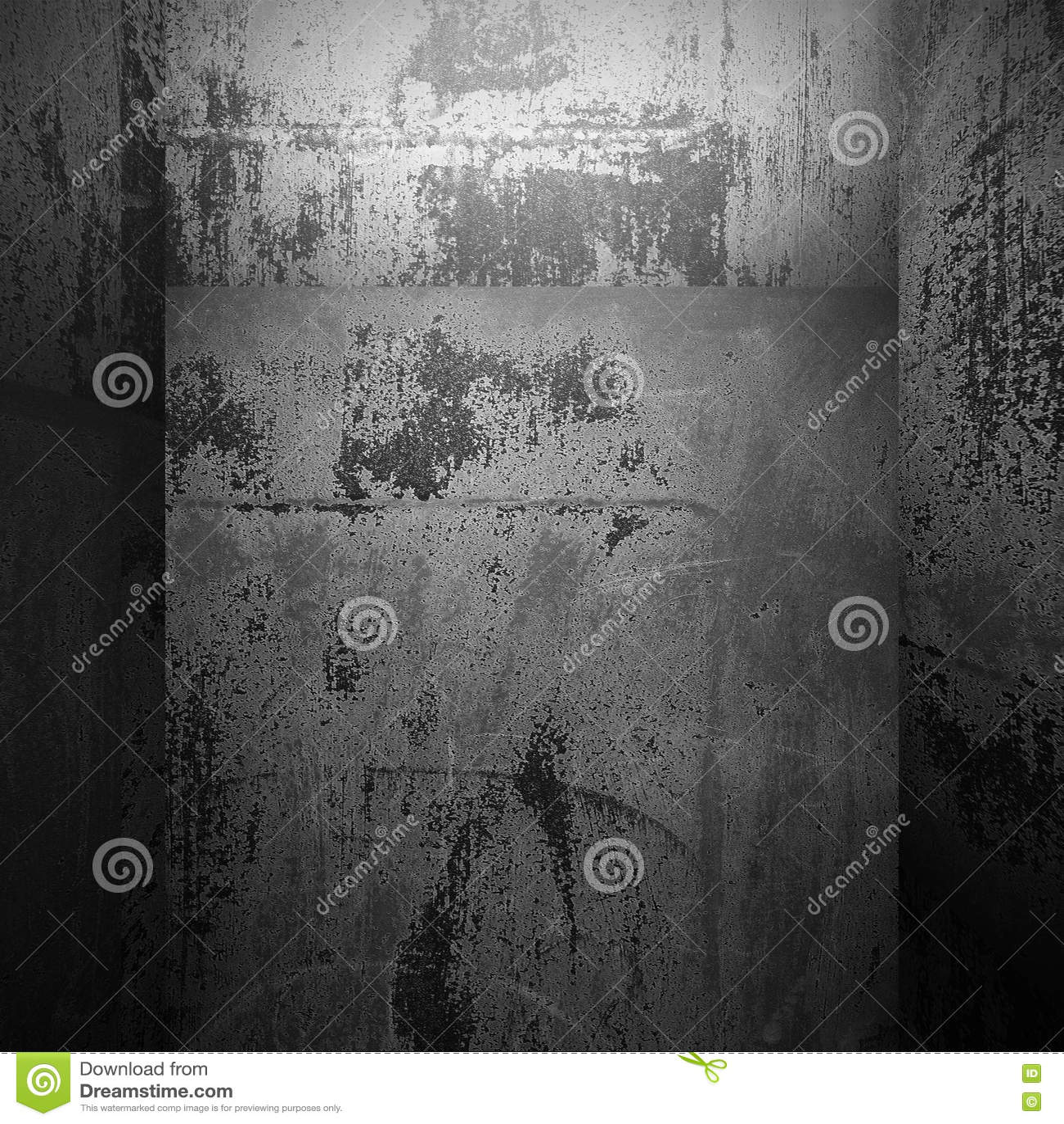Rostiga metalliska väggar tömmer rum industriell bakgrundsgrunge
