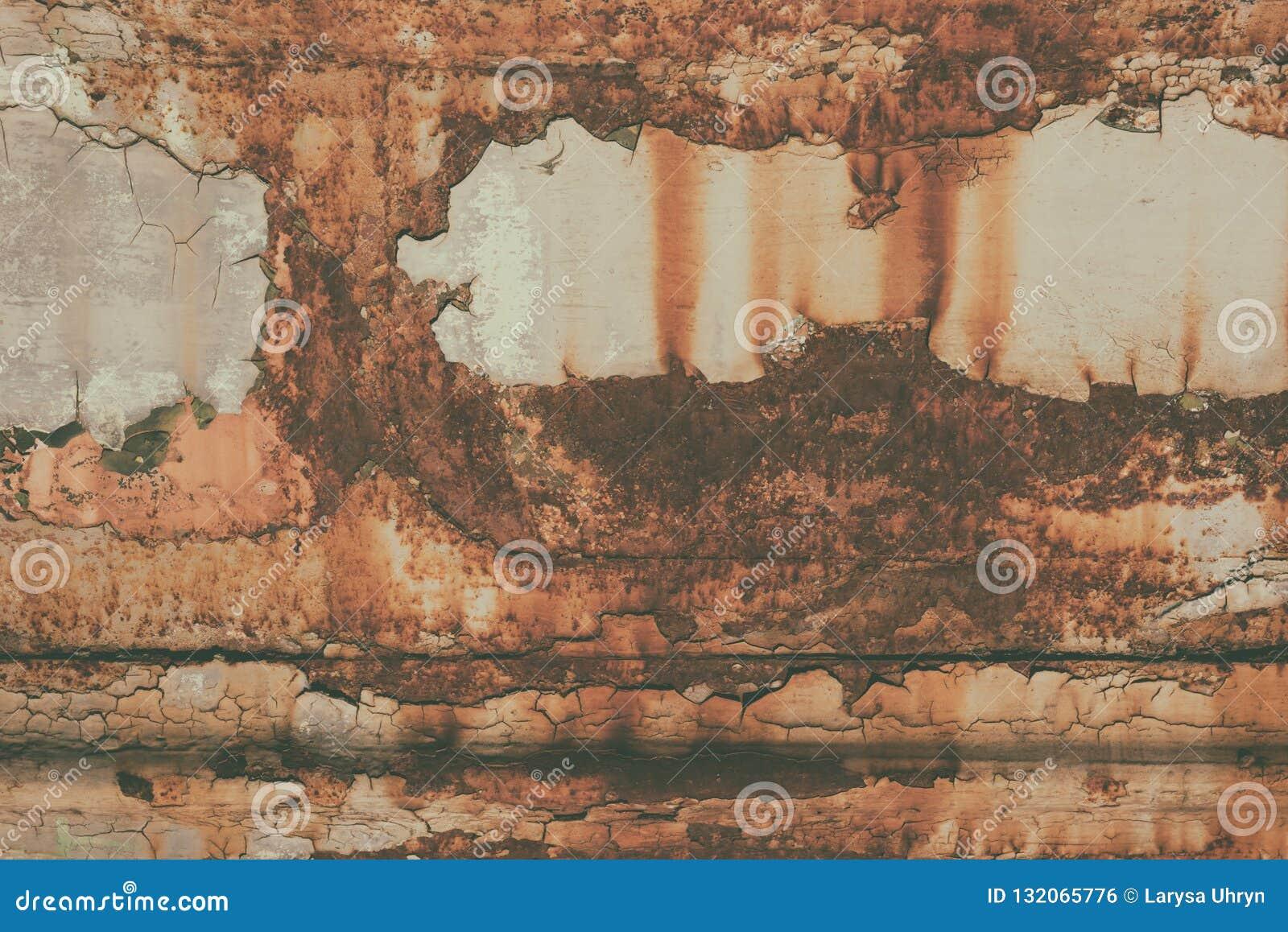 Rostige alte Beschaffenheit des Schmutzes Metall, Weinlesebild, abstrakter Hintergrund