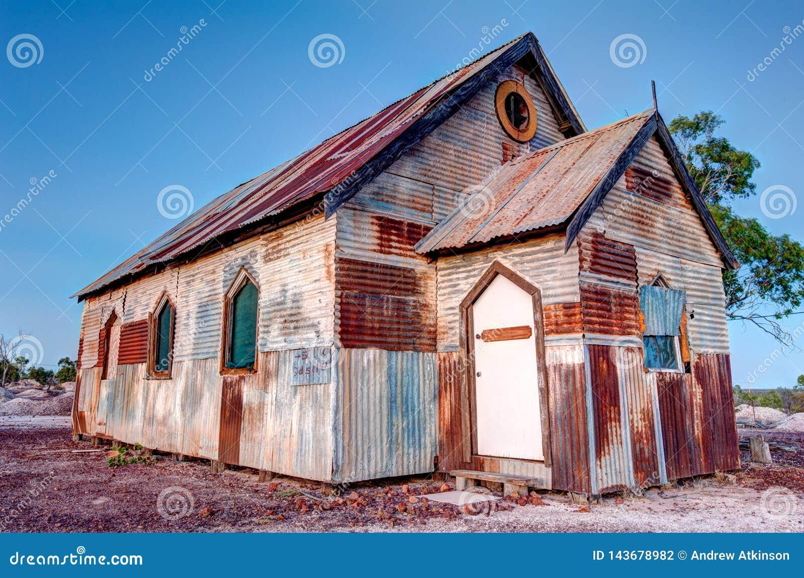 Rostige alte Kirche in Winkel Blitz-Ridge Australias 3x2