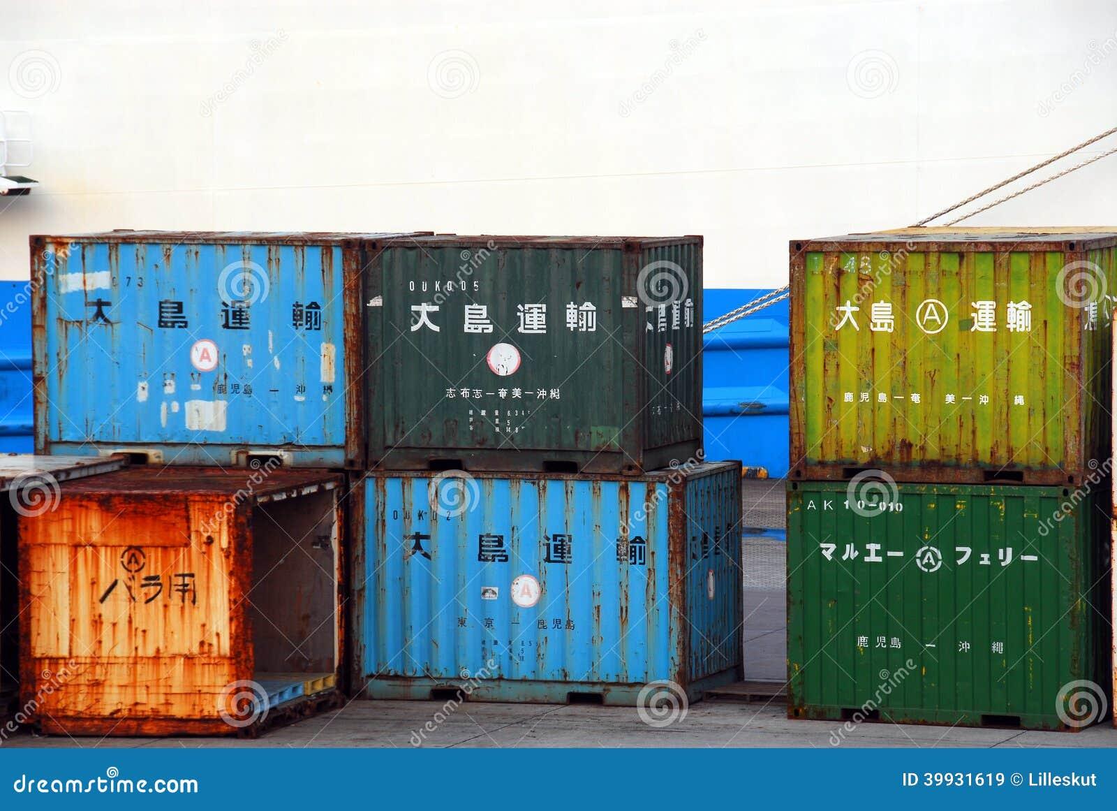Rostige Behälter