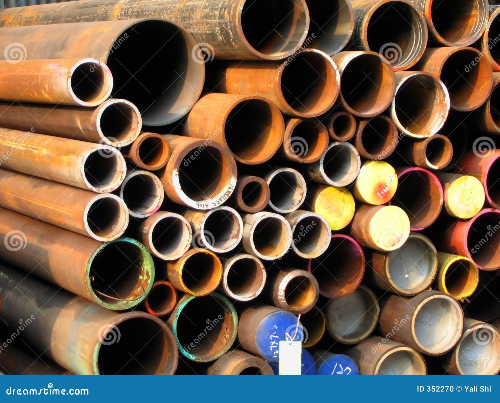 Rostige Stahlrohre