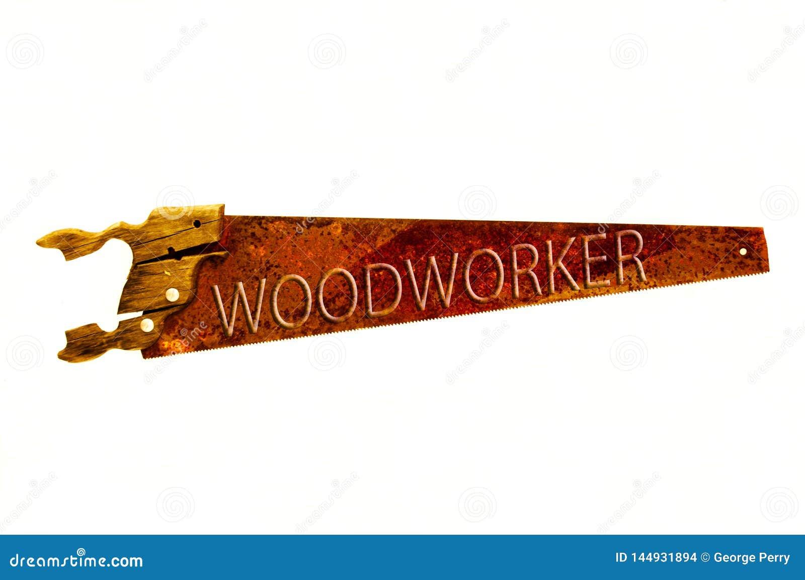 Rostiger alter Handsaw