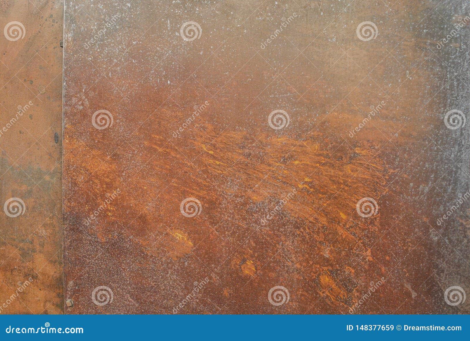 Rostiger Metallbeschaffenheitshintergrund f?r Innenau?endekorations- und Industriebaukonzeptdesign