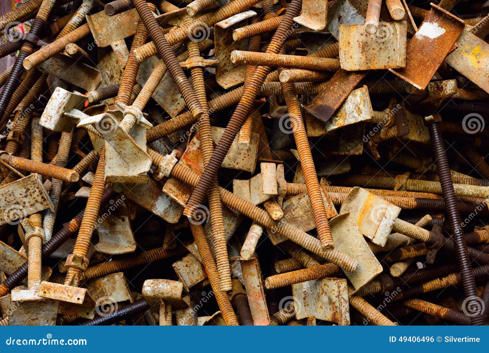 Download Rostiges Baugerüst stockfoto. Bild von nahaufnahme, feld - 49406496