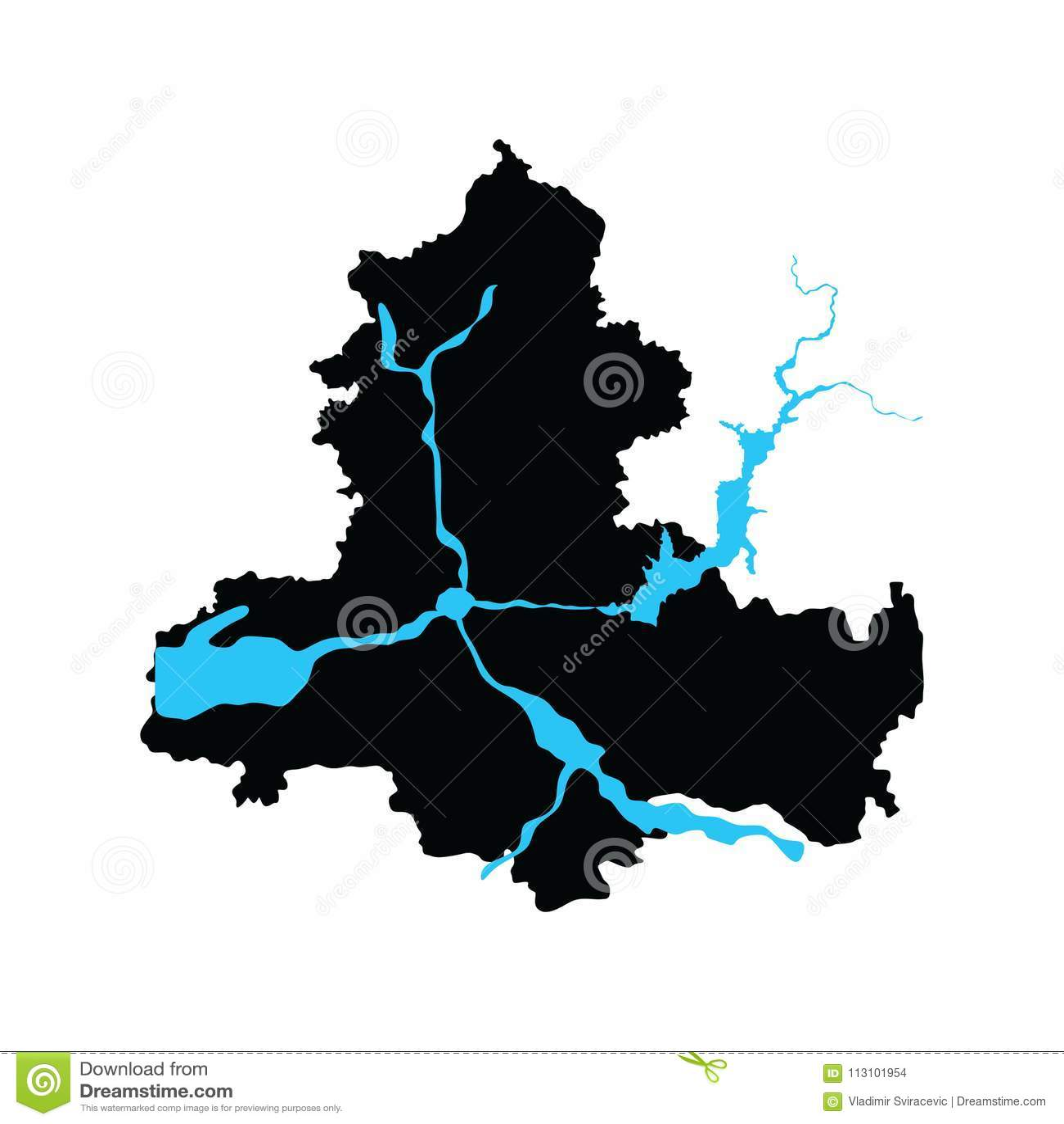 Rostov Oblast Map, Map. Russia Oblast Map Illustration. Rostov On ...