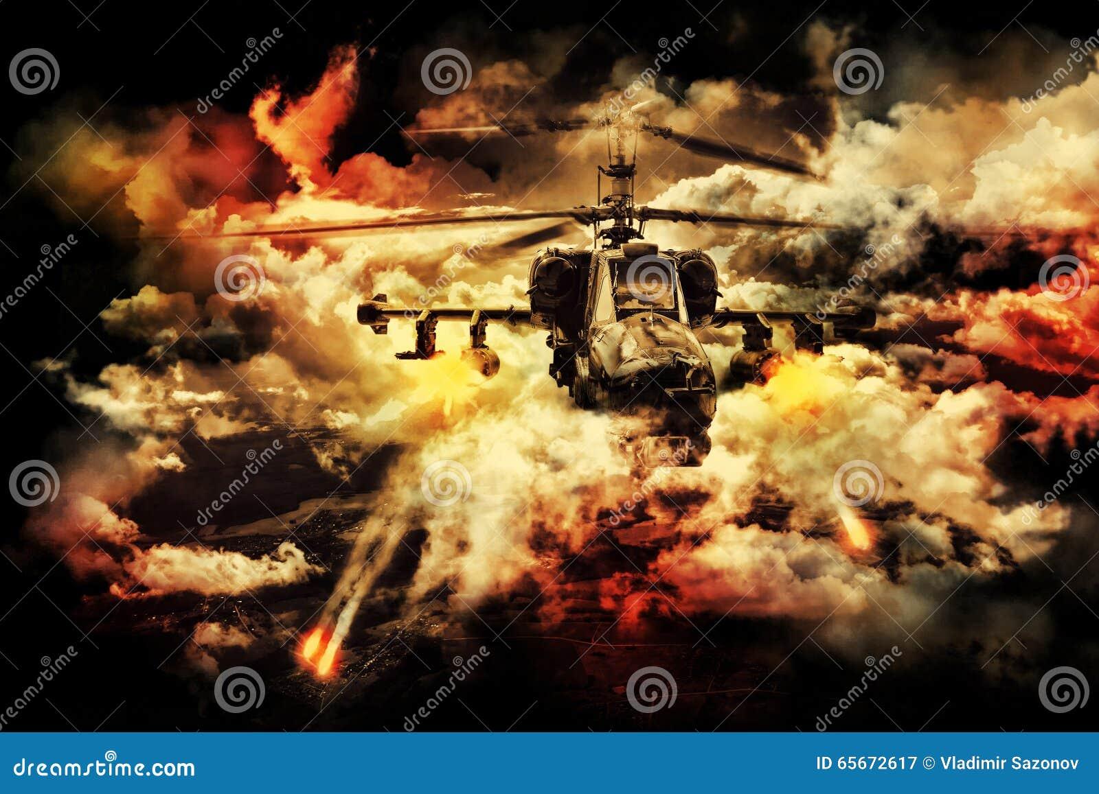 Rosyjski Militarny helikopter