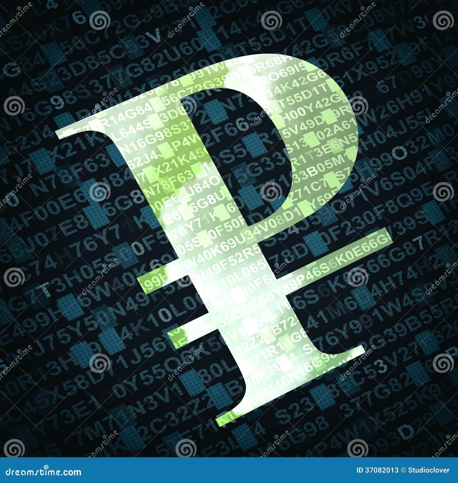 Download Rosyjskiego Rubla Waluty Znak Z Liczbami I Listami Na Tle Ilustracji - Ilustracja złożonej z finanse, biznes: 37082013