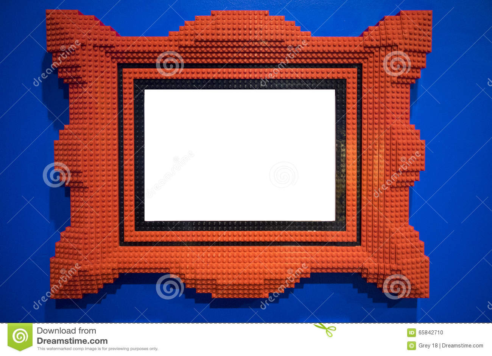 Rot blockiert Bilderrahmen stock abbildung. Illustration von ...