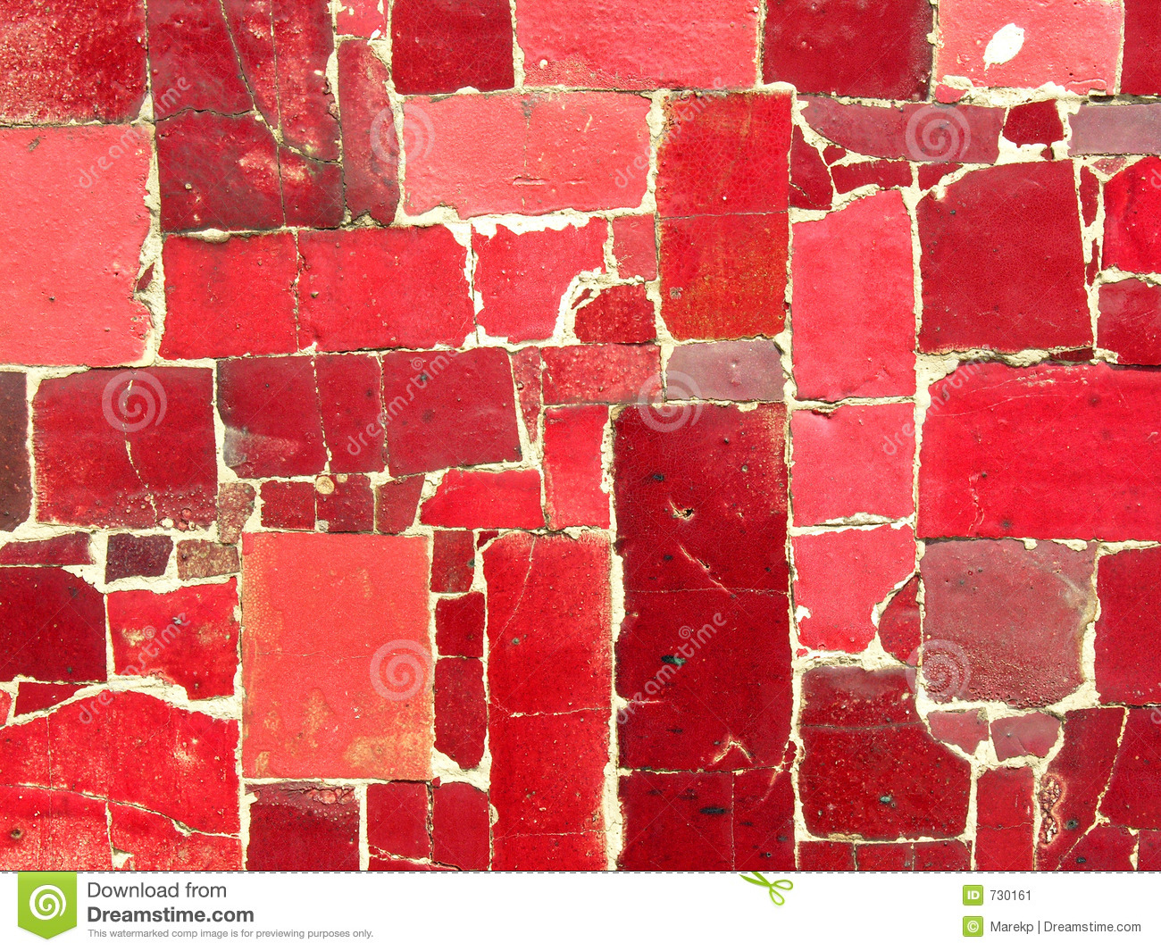 Red Glass Mosaic Tiles Kitchen