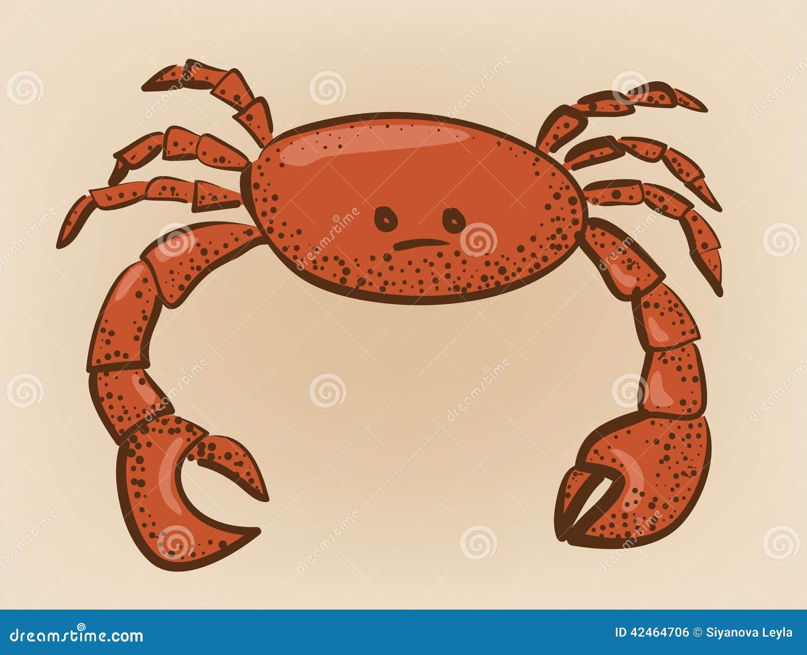 Rot färbte Krabbe mit Flecken von Zusammenfassung I des reflektierten Lichtes