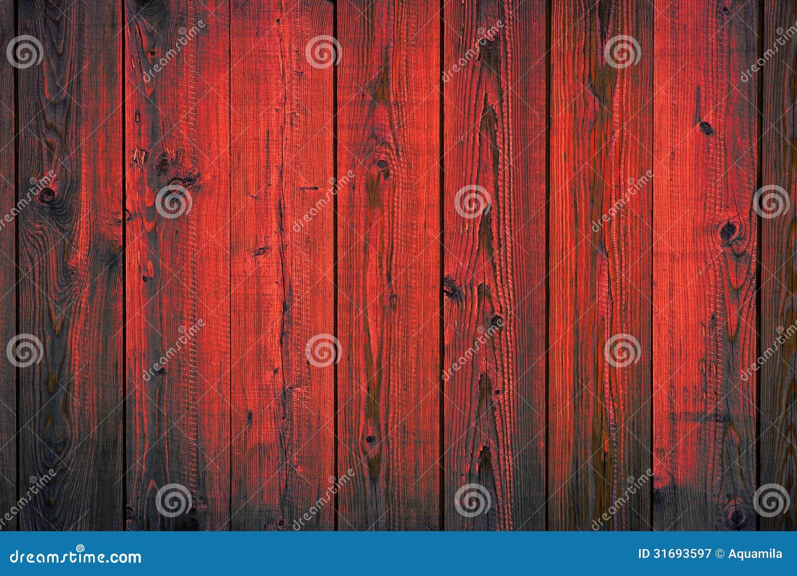 Rot malte hölzern, Planken, Beschaffenheitshintergrund weg abziehend