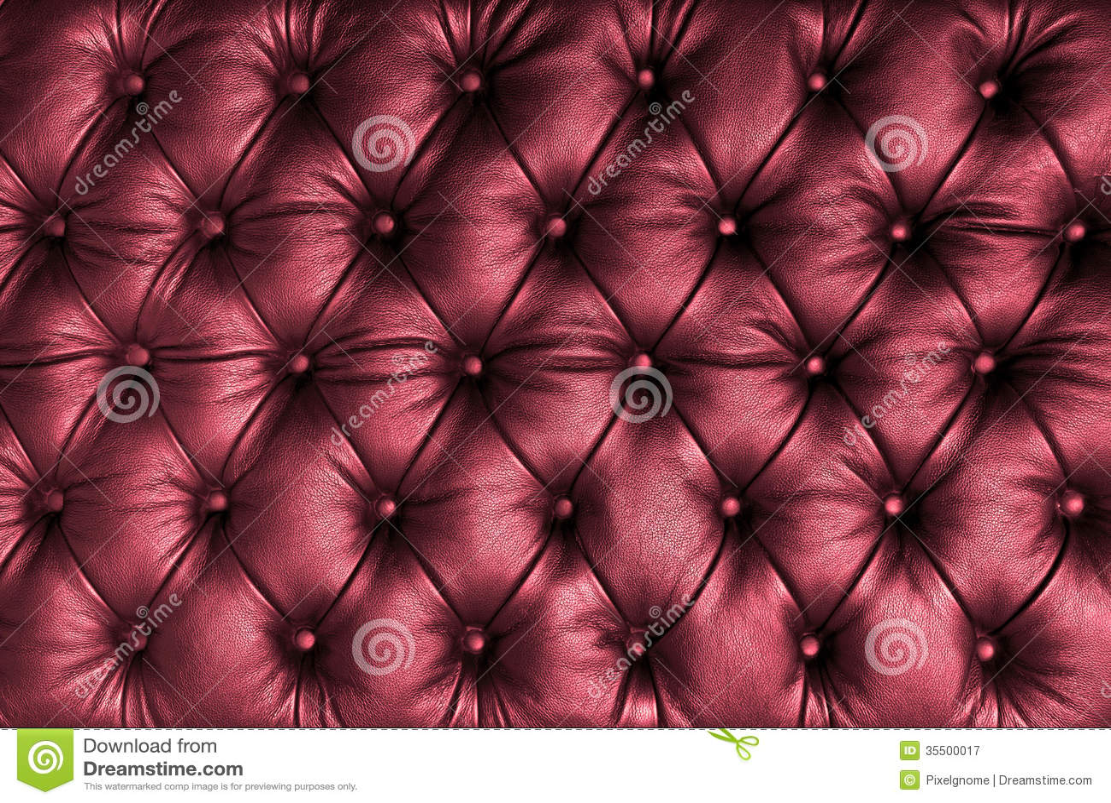 rot tuffted leder mit kn pfen lizenzfreie stockfotografie. Black Bedroom Furniture Sets. Home Design Ideas