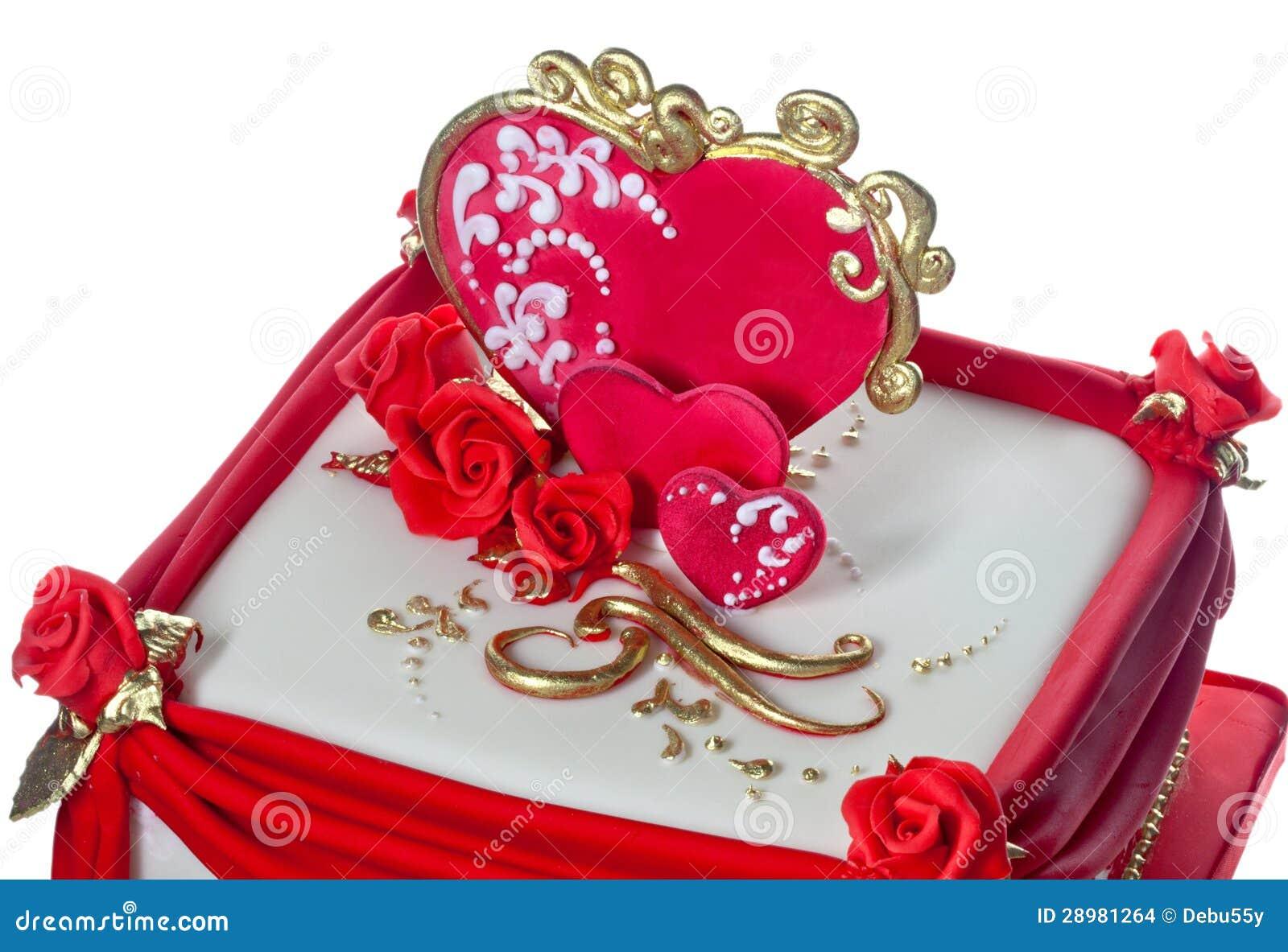 Rot Und Weiß Gefroren Kuchen. Stockbilder - Bild: 28981264