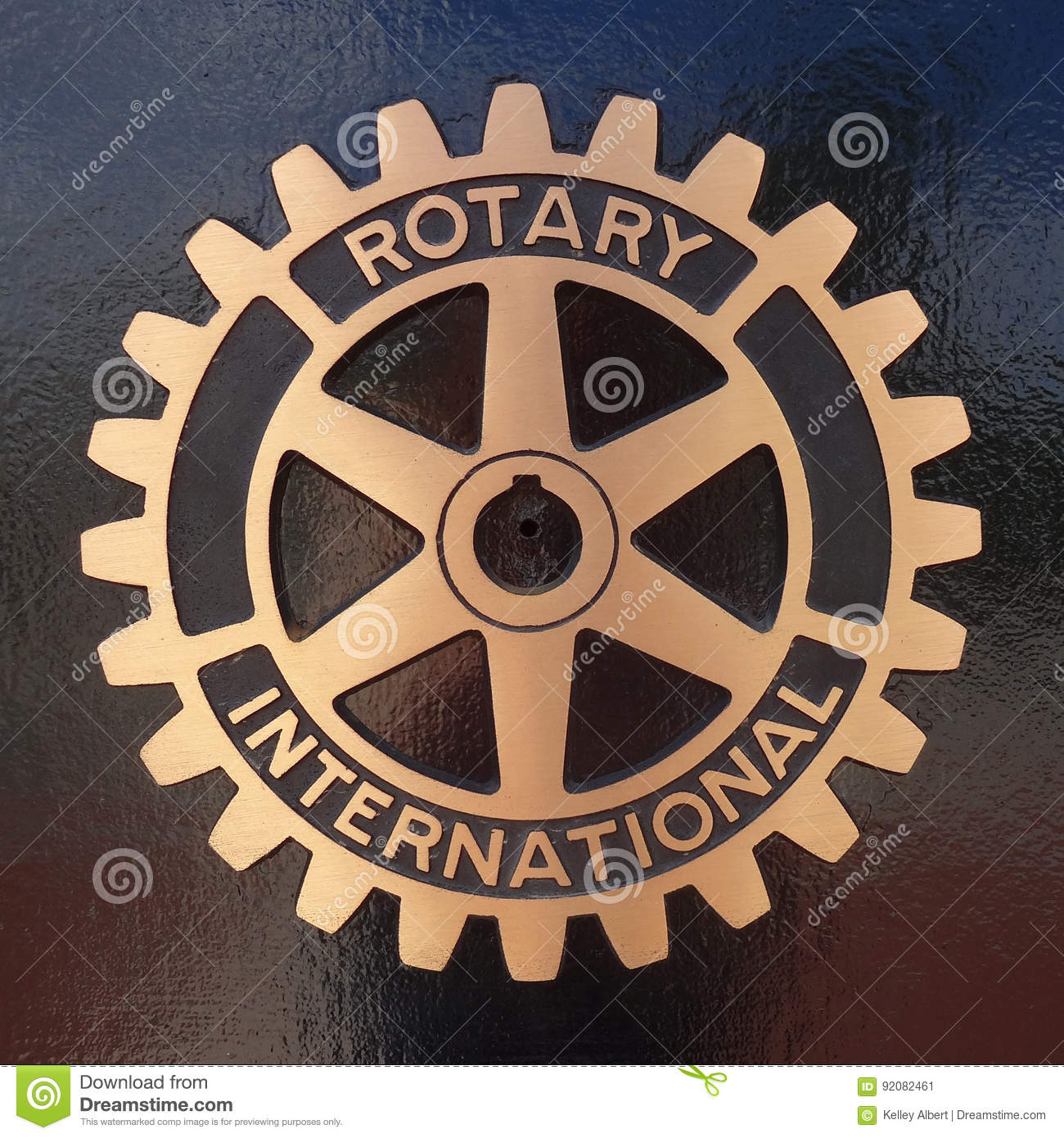 Rotary Club International Symbol And Plaque Editorial Photo - Image ...