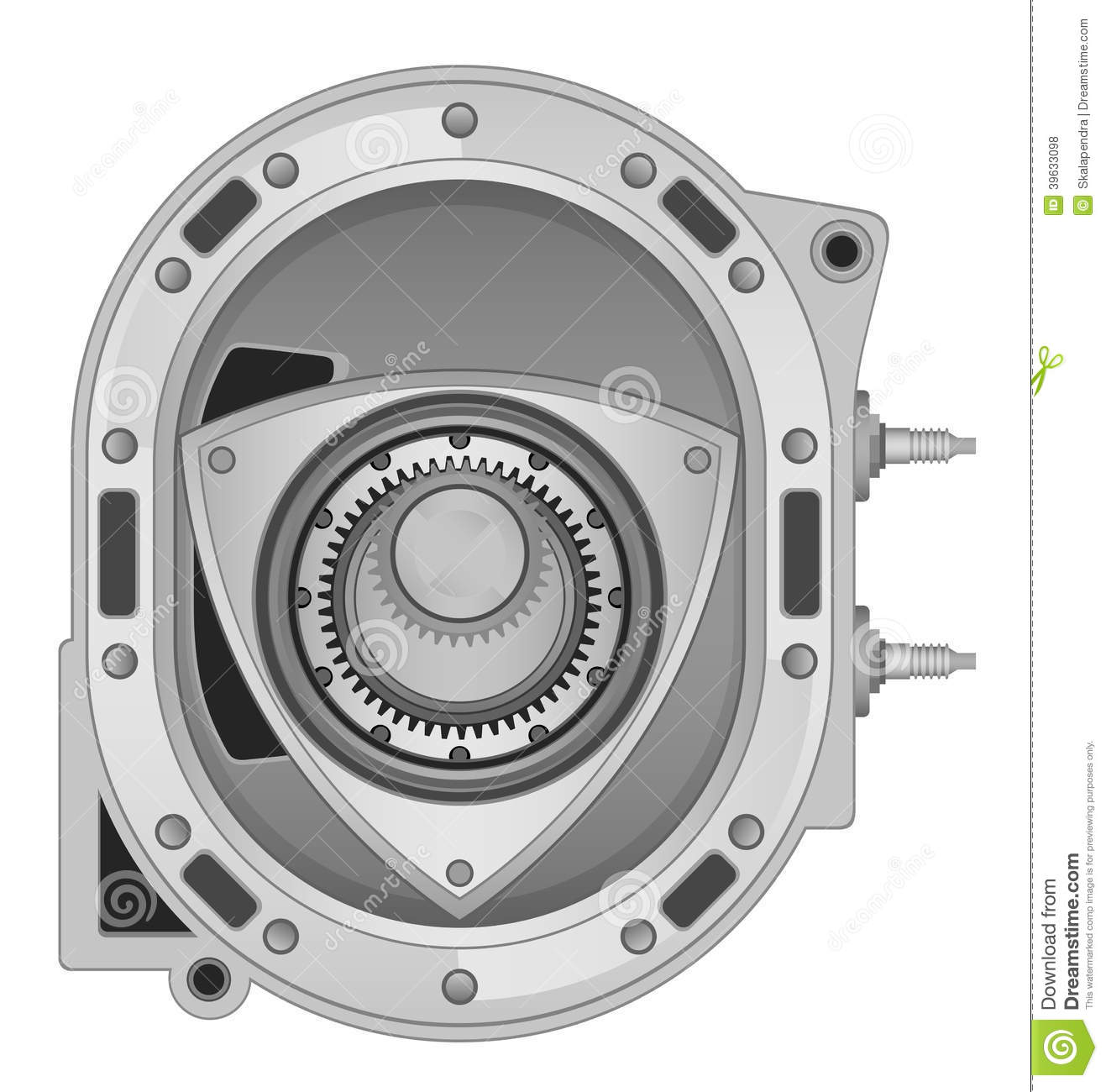 rotary engine stock vector image of equipment  automobile 39633098 Rotary Motor Diagram Wankel Engine Animation