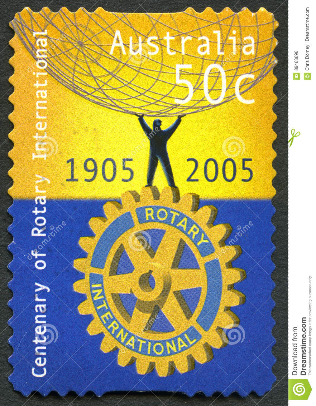 Rotary International Australian Postage Stamp