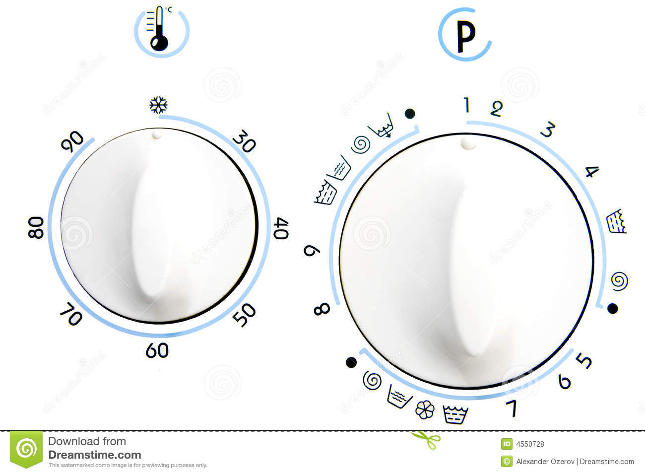 Rotary Knob Of Clothes Washer Royalty Free Stock Photos