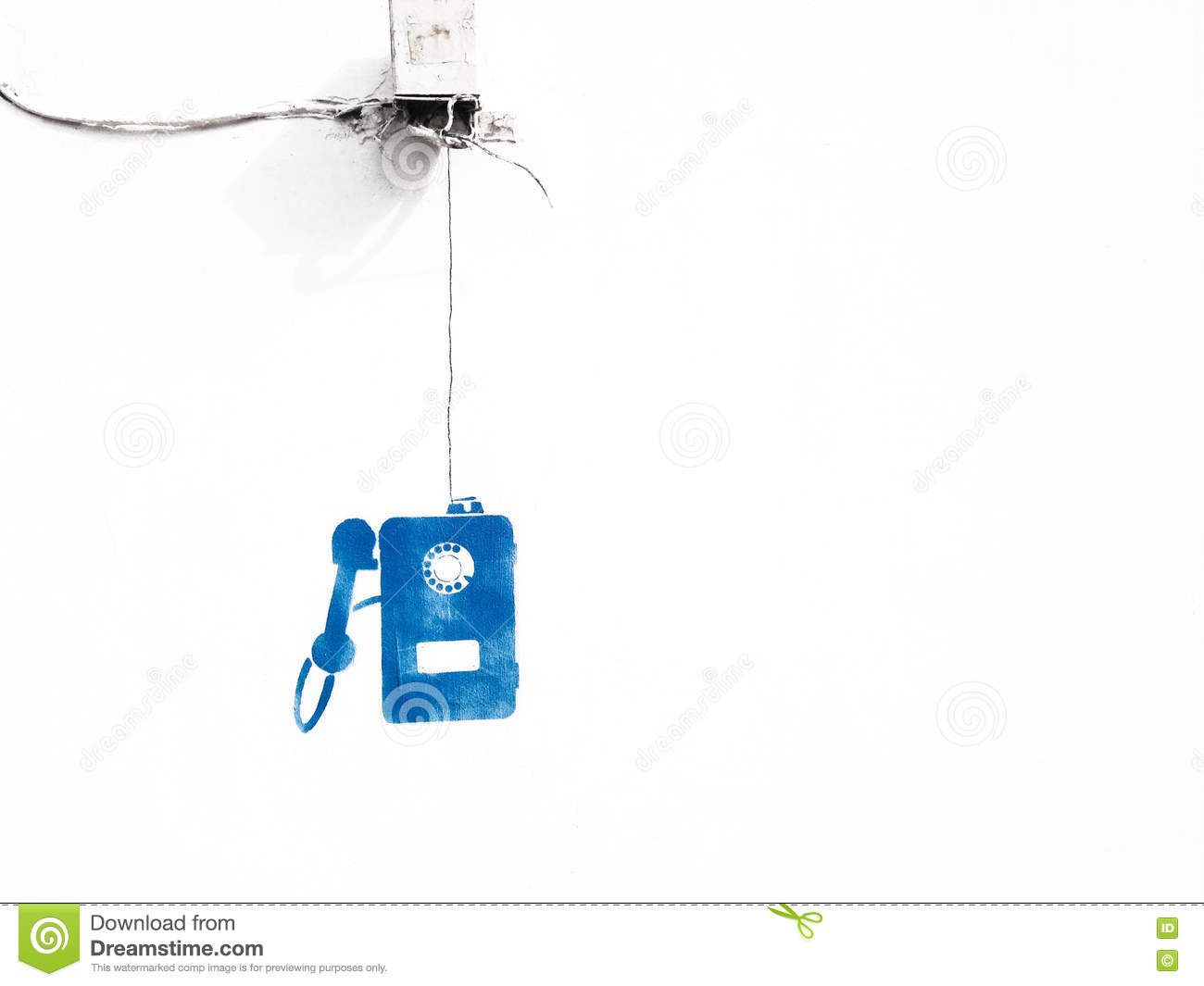 Rotary Wire Telephone On White Background Stock Image Of Wiring Diagram Download Abstract Retro