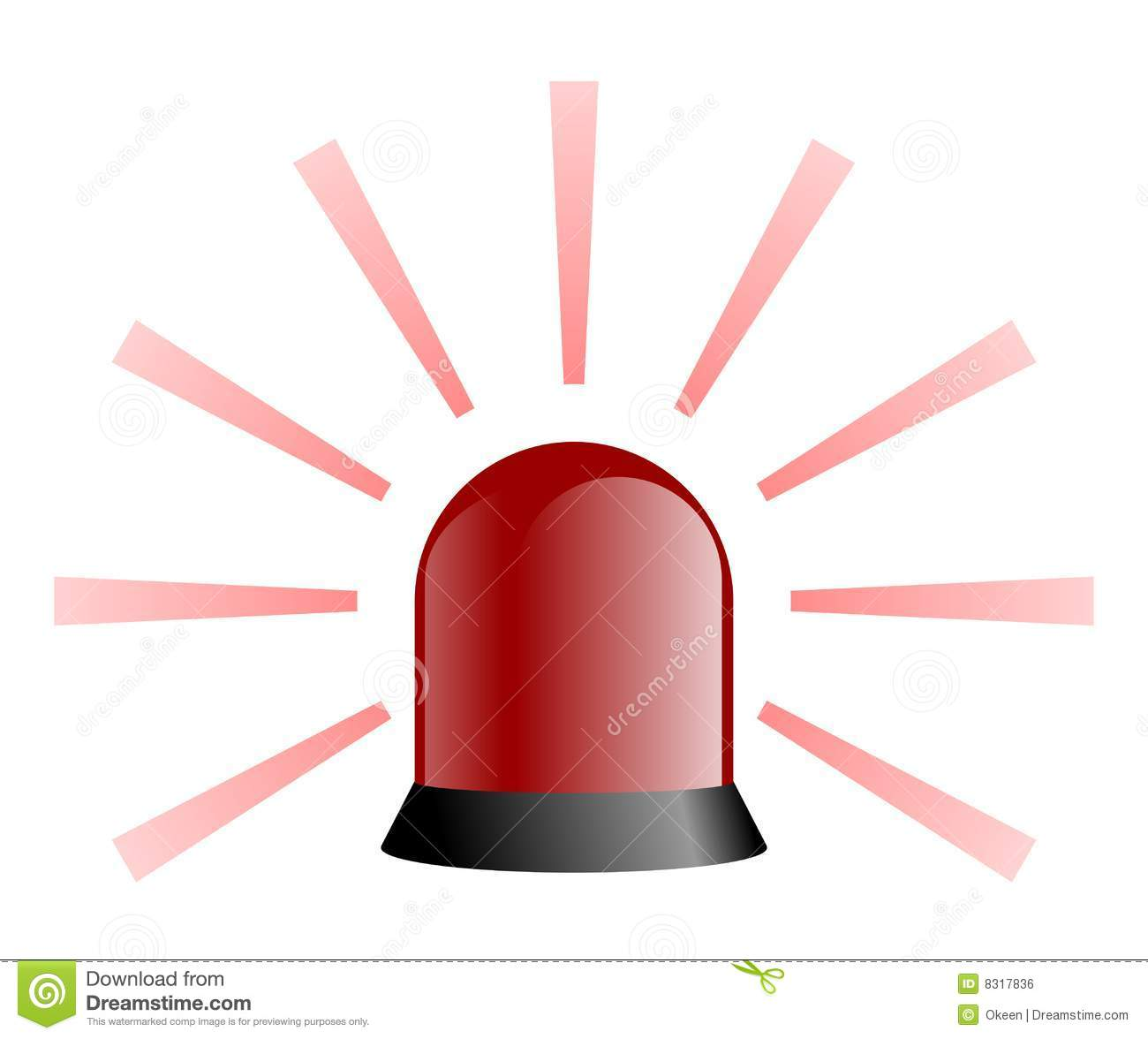 Rotating Beacon Red Royalty Free Stock Image Image